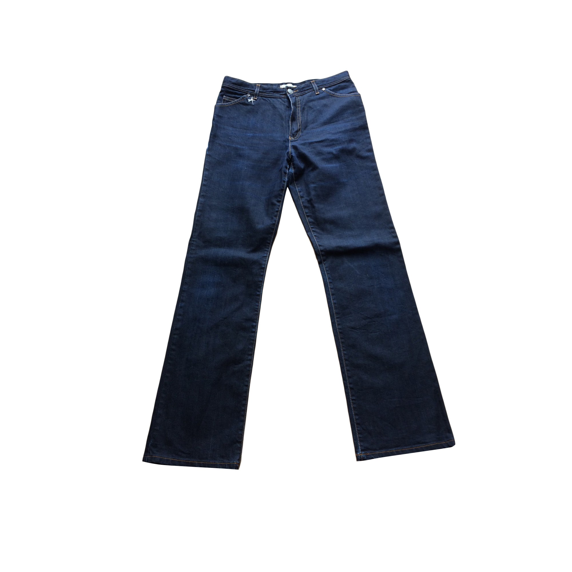Pantalon droit ARMAND VENTILO Bleu, bleu marine, bleu turquoise