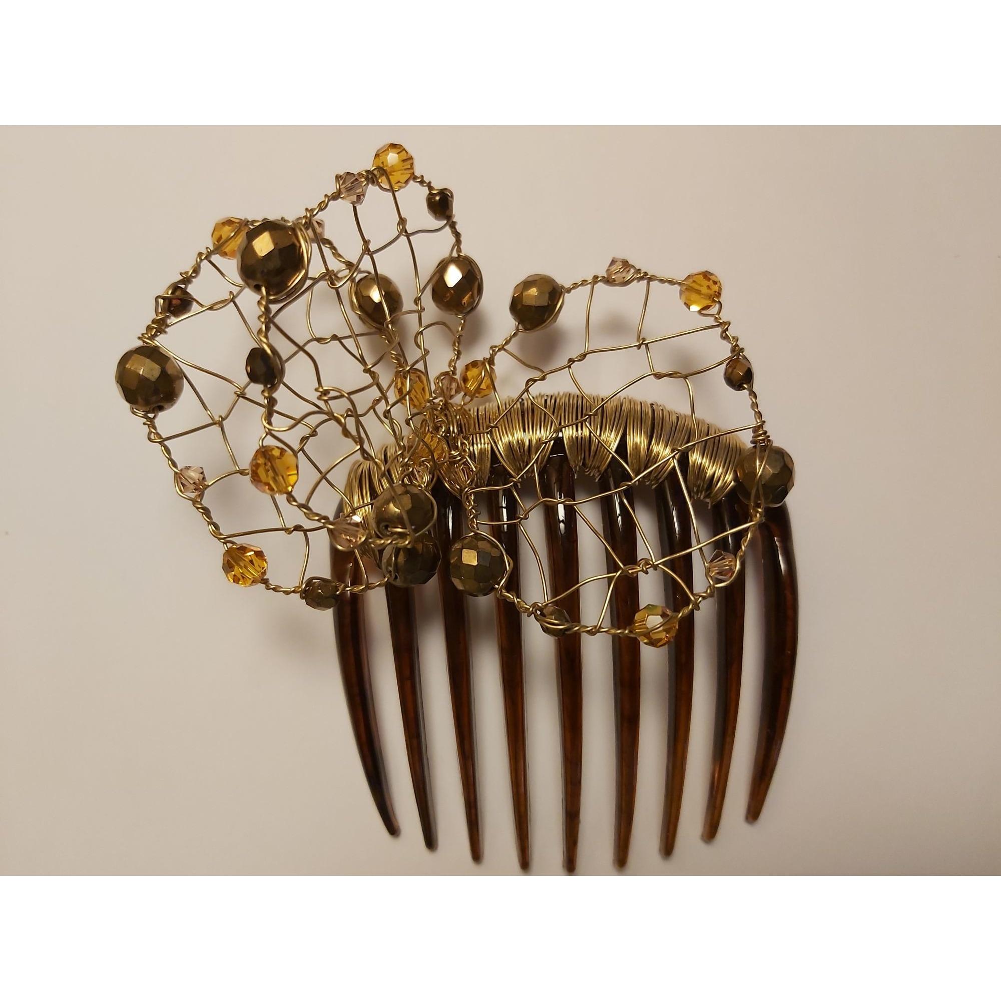 Serre-tête COLETTE MALOUF (COMME ALEXANDRE DE PARIS) Doré, bronze, cuivre