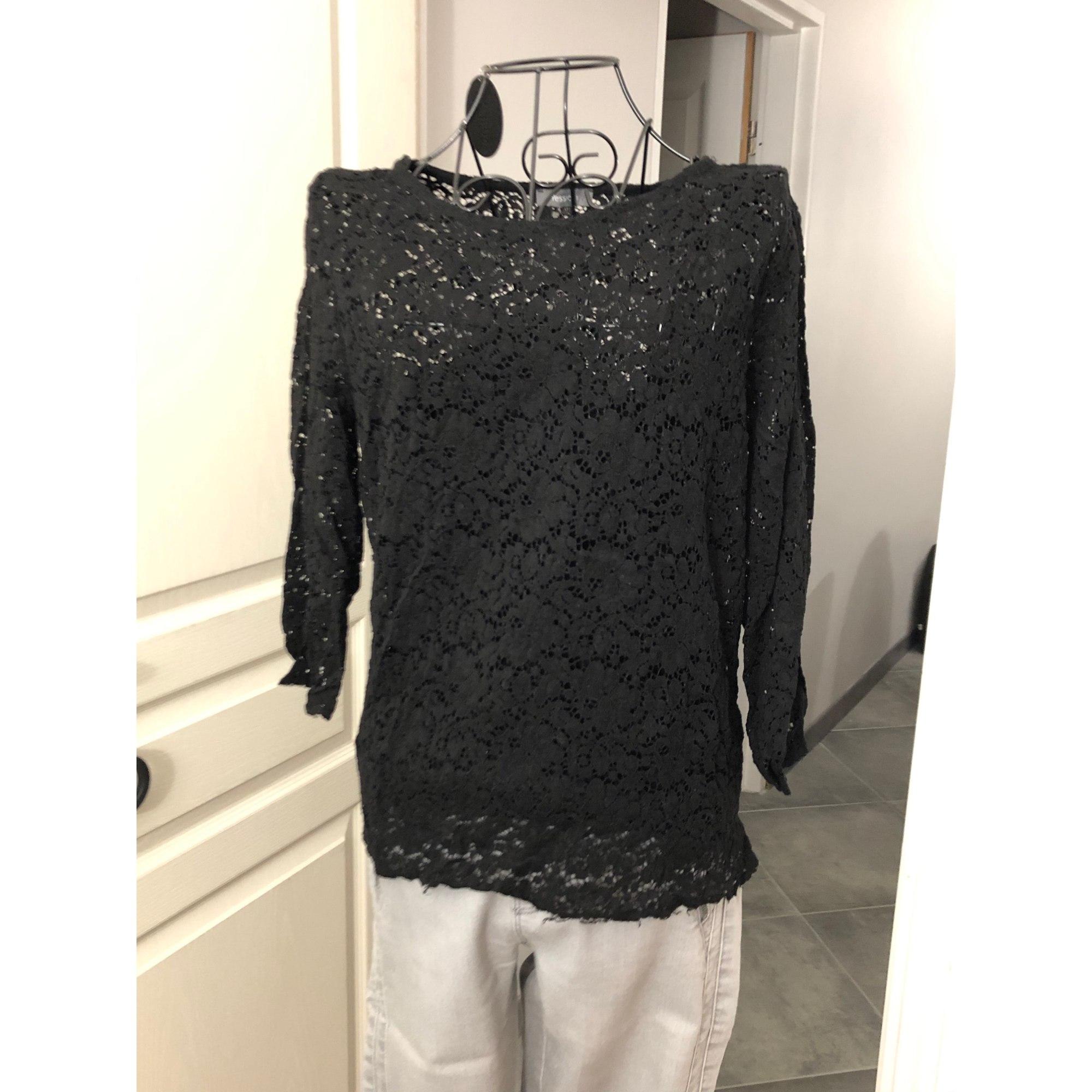 Top, tee-shirt YESSICA Noir