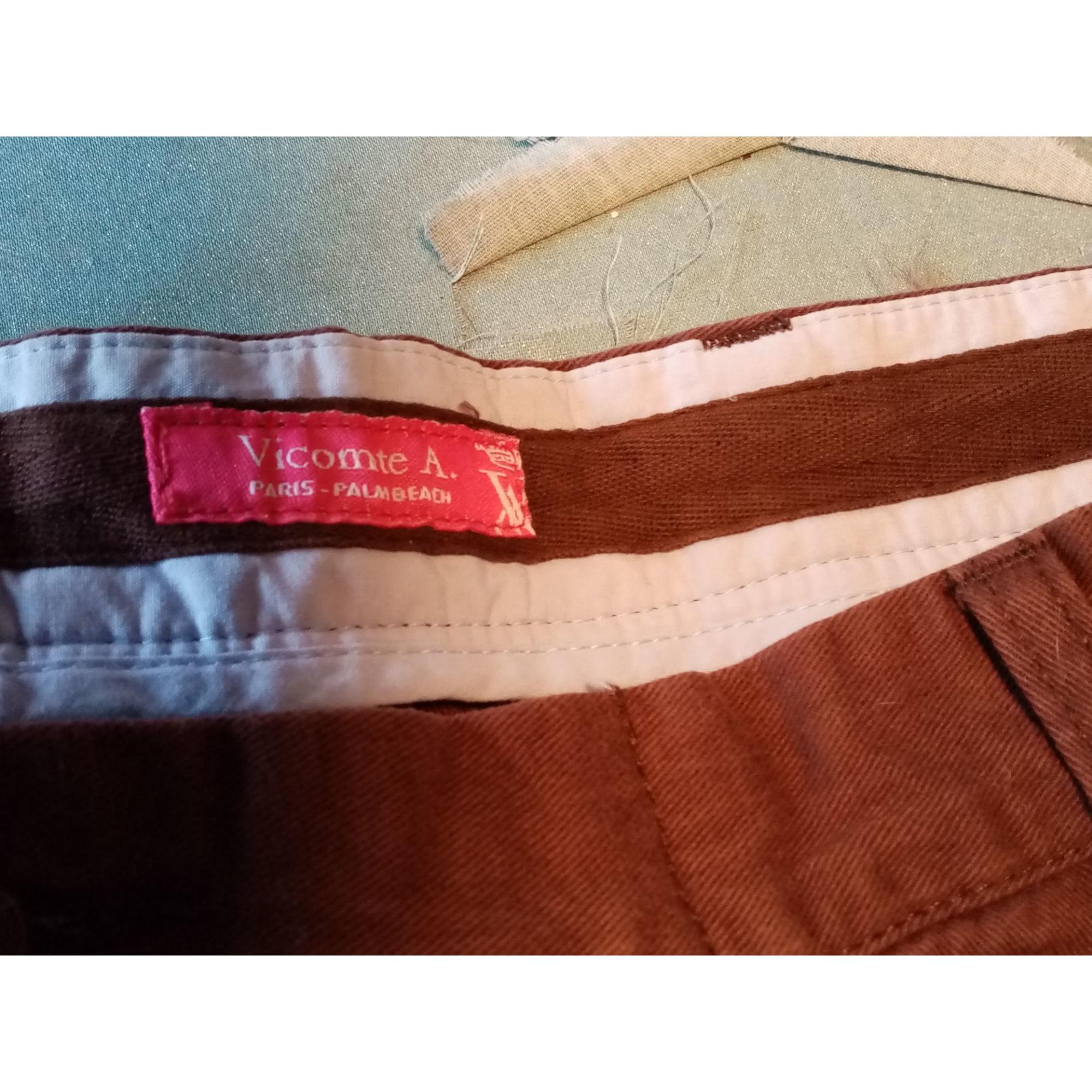 Pantalon droit VICOMTE A. Marron