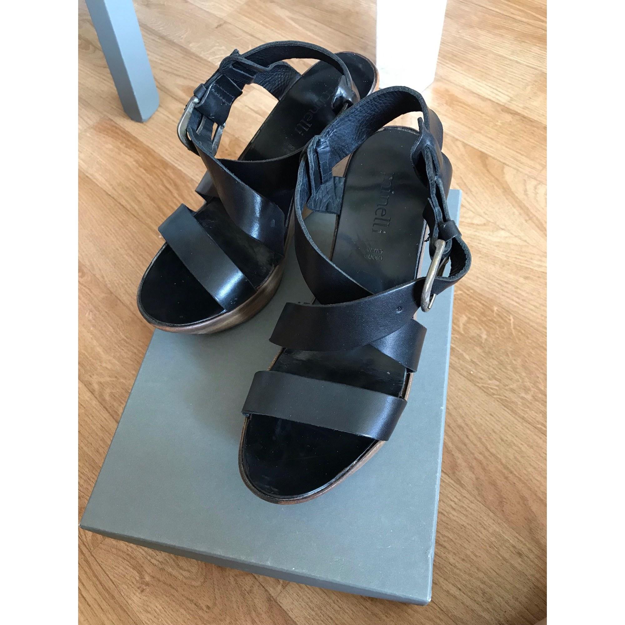 Wedge Sandals MINELLI Black