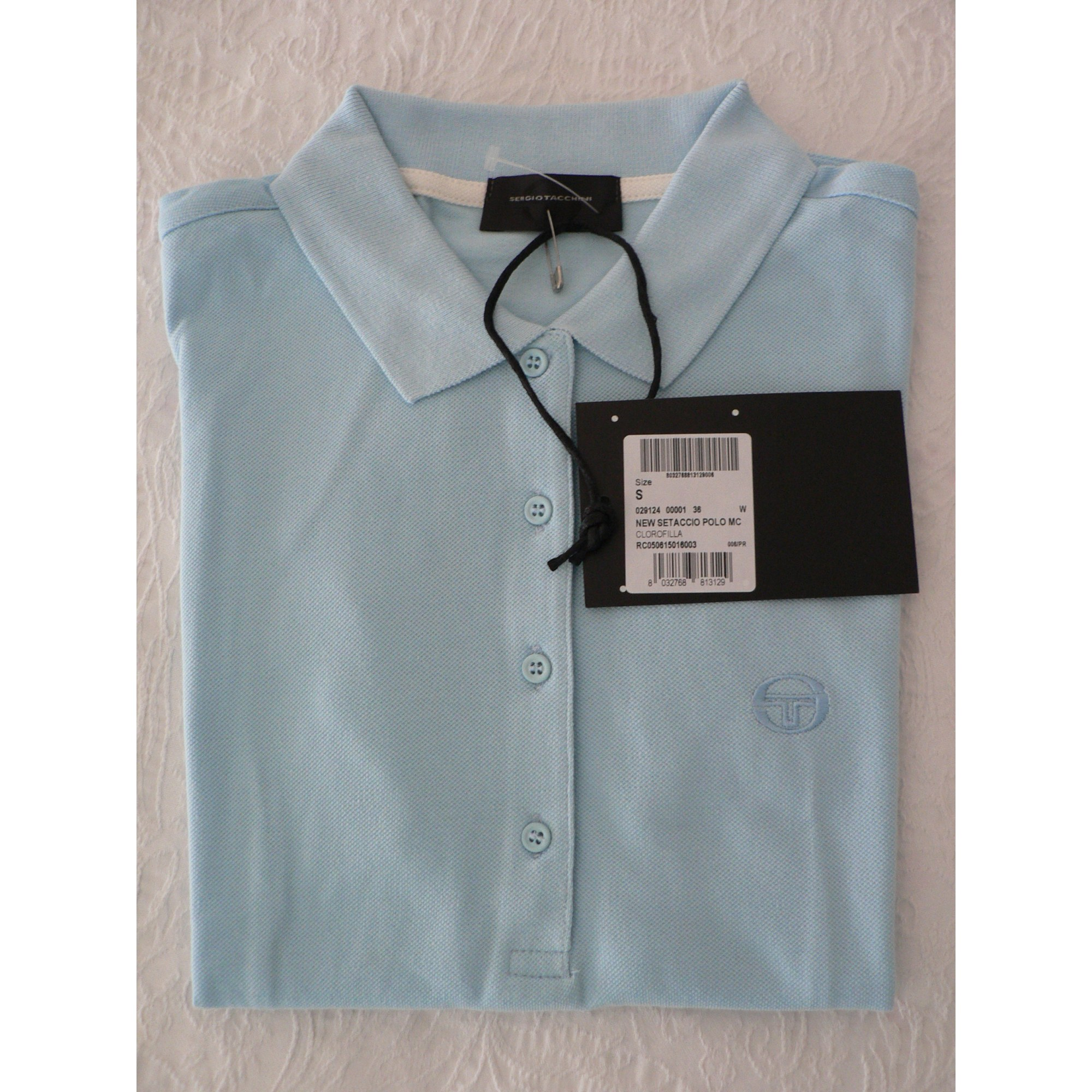 Polo SERGIO TACCHINI Bleu, bleu marine, bleu turquoise