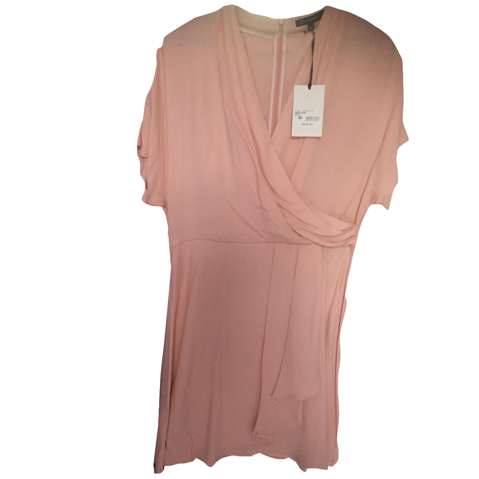 Robe courte TARA JARMON Peche rosee