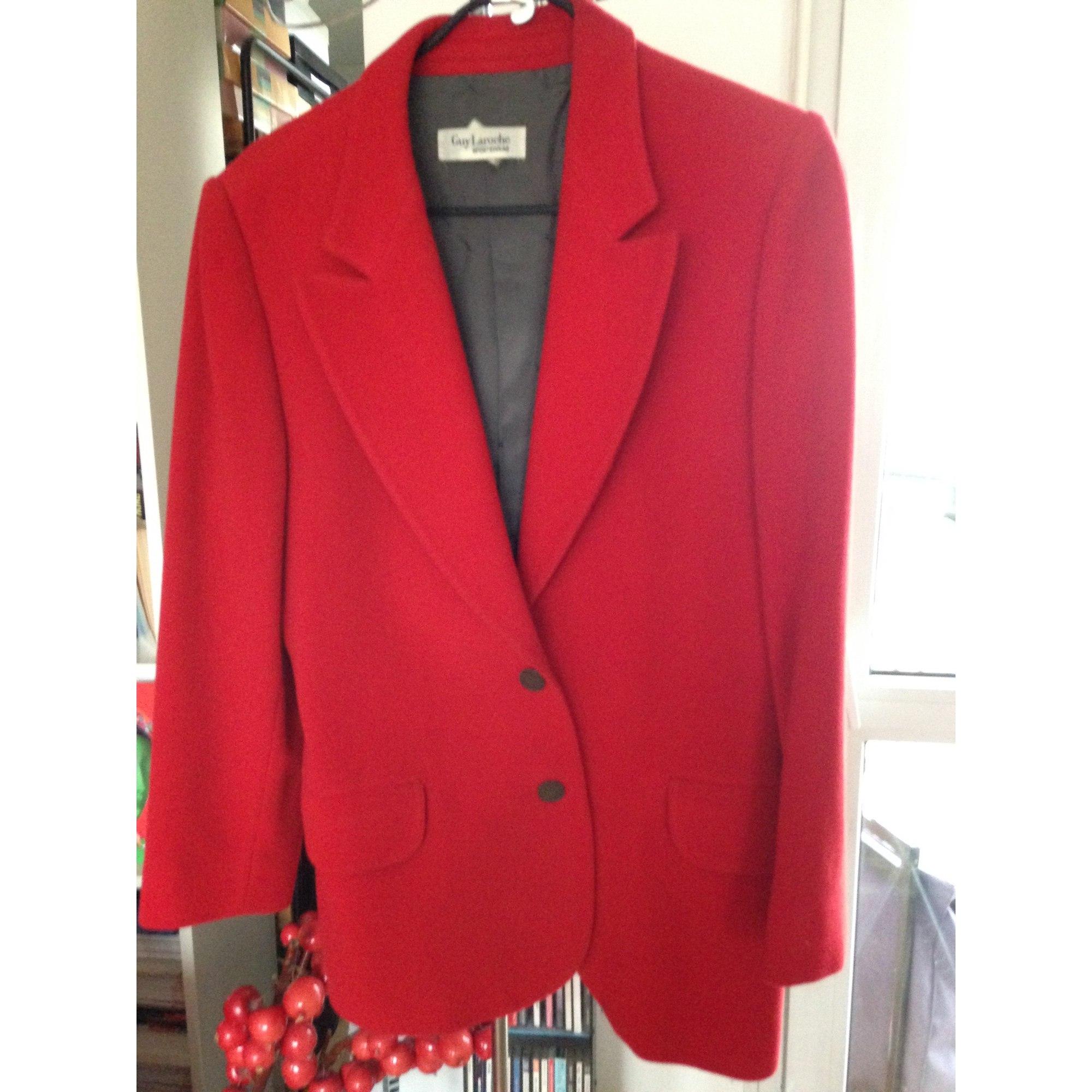 Blazer, veste tailleur GUY LAROCHE Rouge, bordeaux