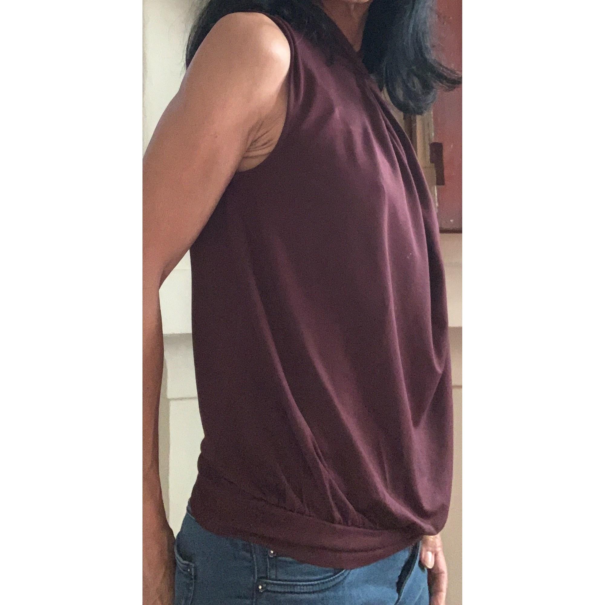 Top, tee-shirt KAREN MILLEN Rouge, bordeaux