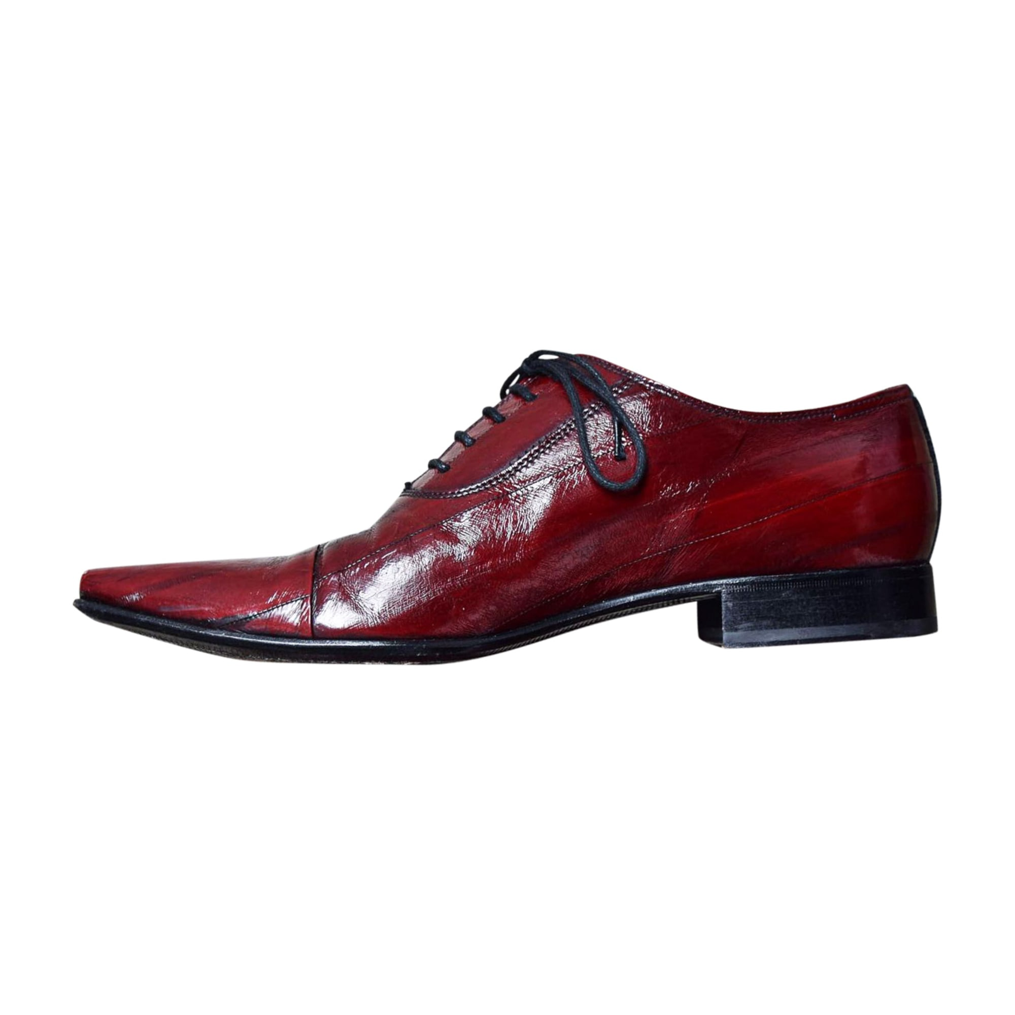 Lace Up Shoes DOLCE & GABBANA Red, burgundy