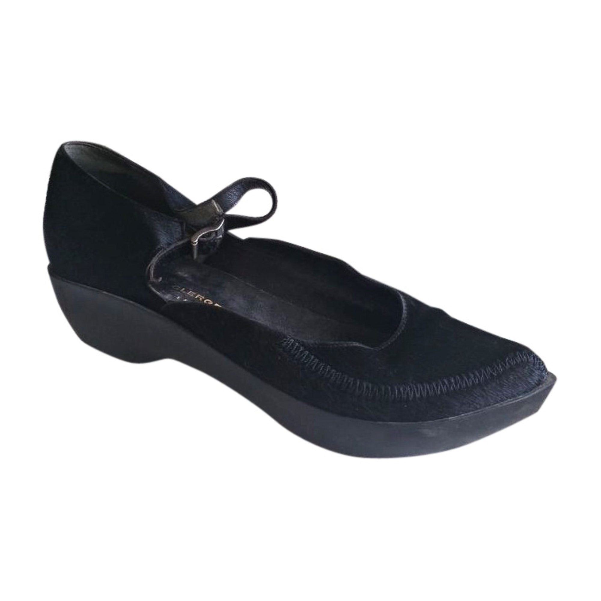 Sandales compensées ROBERT CLERGERIE Noir