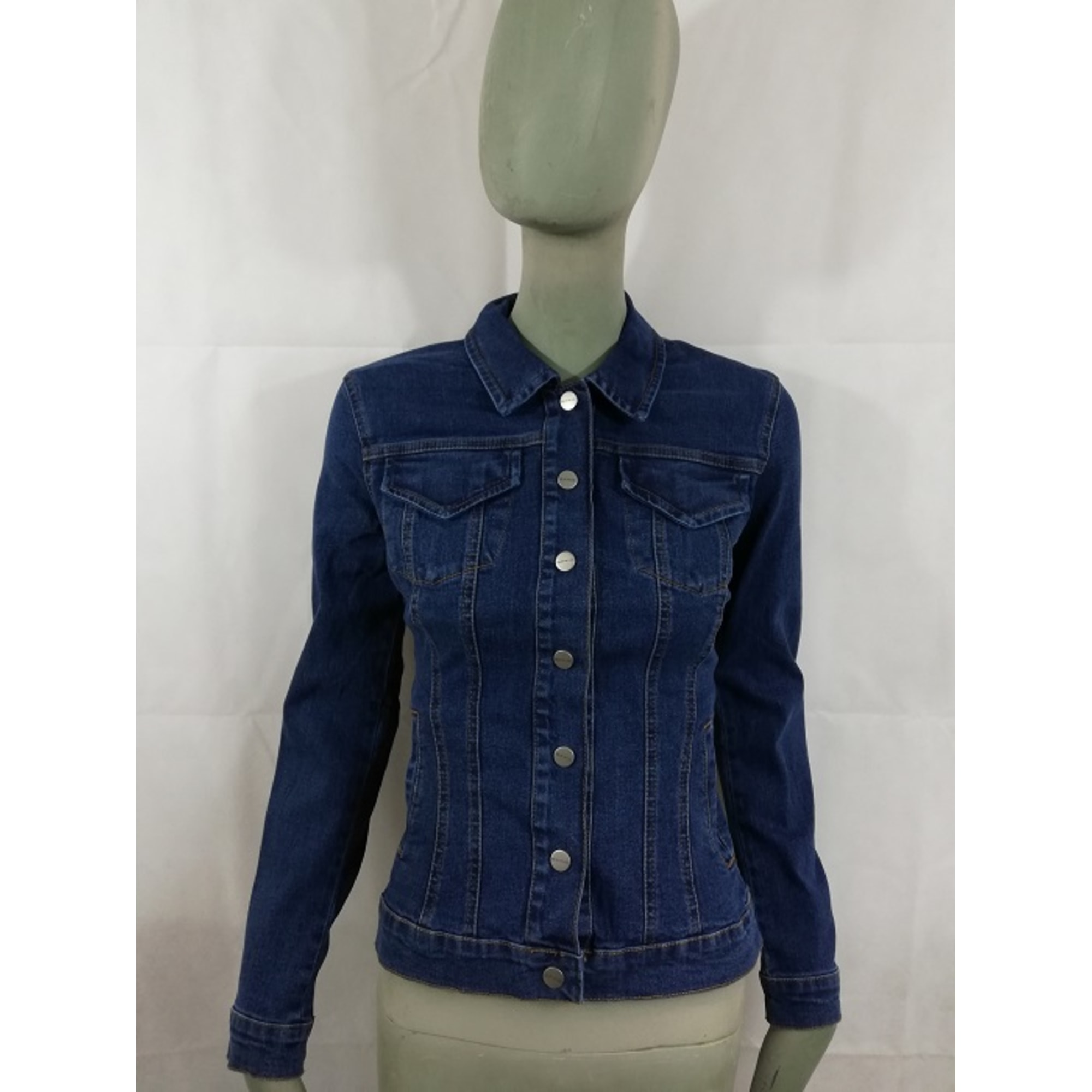 Blouson en jean OPPIO FASHION Bleu, bleu marine, bleu turquoise