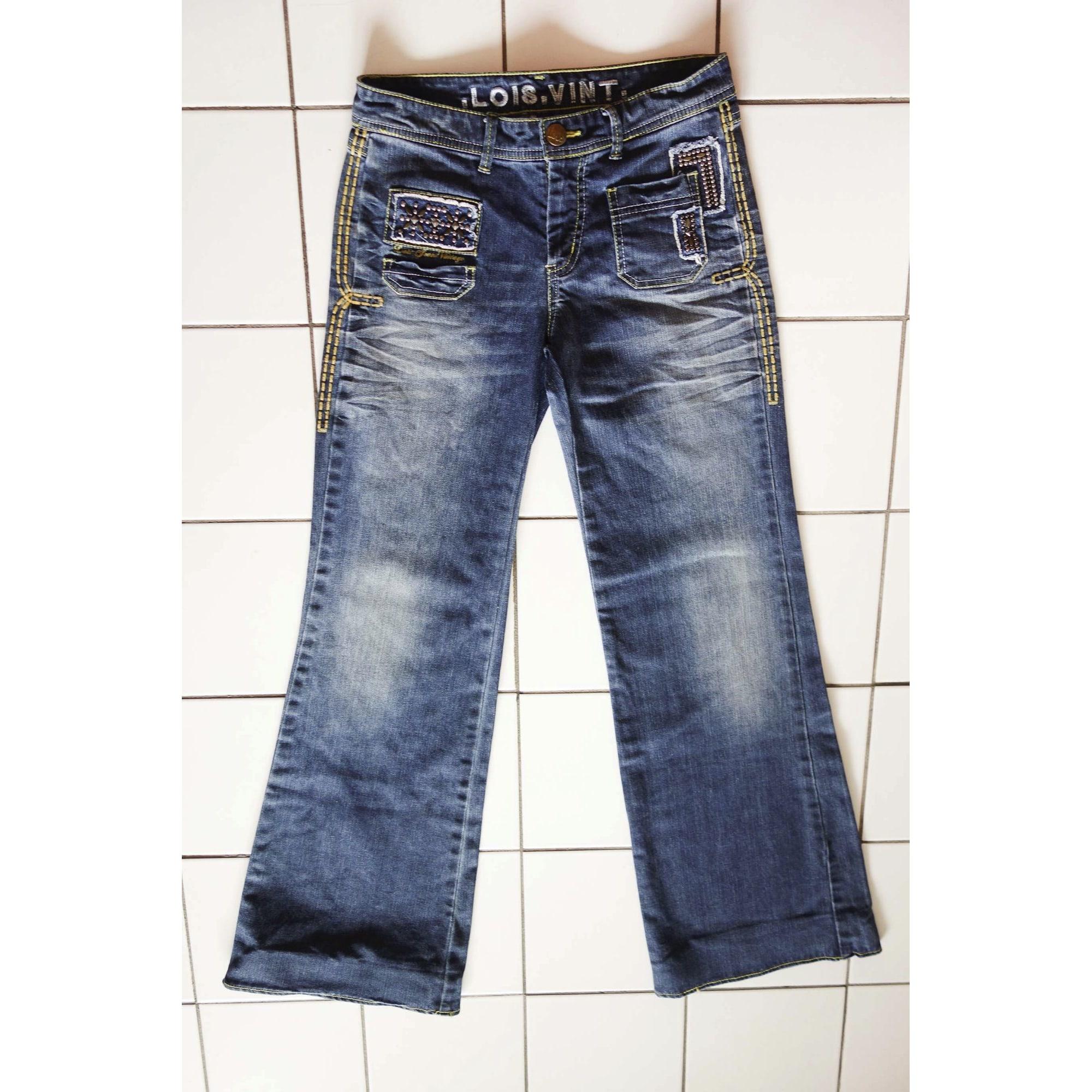 Jeans évasé, boot-cut LOIS Bleu, bleu marine, bleu turquoise