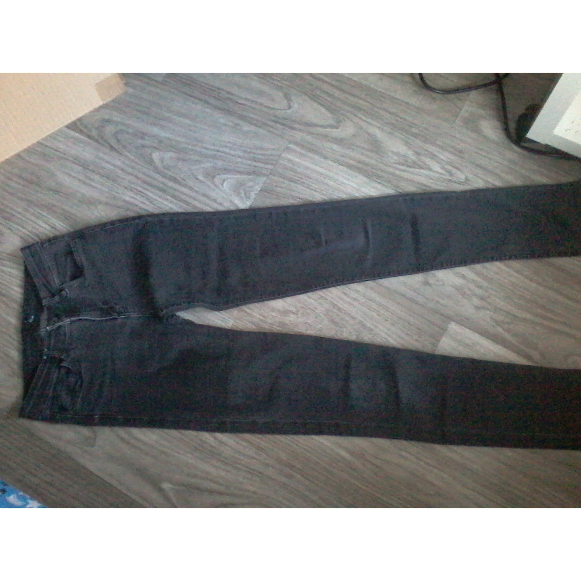 Jeans slim ETAM Gris, anthracite