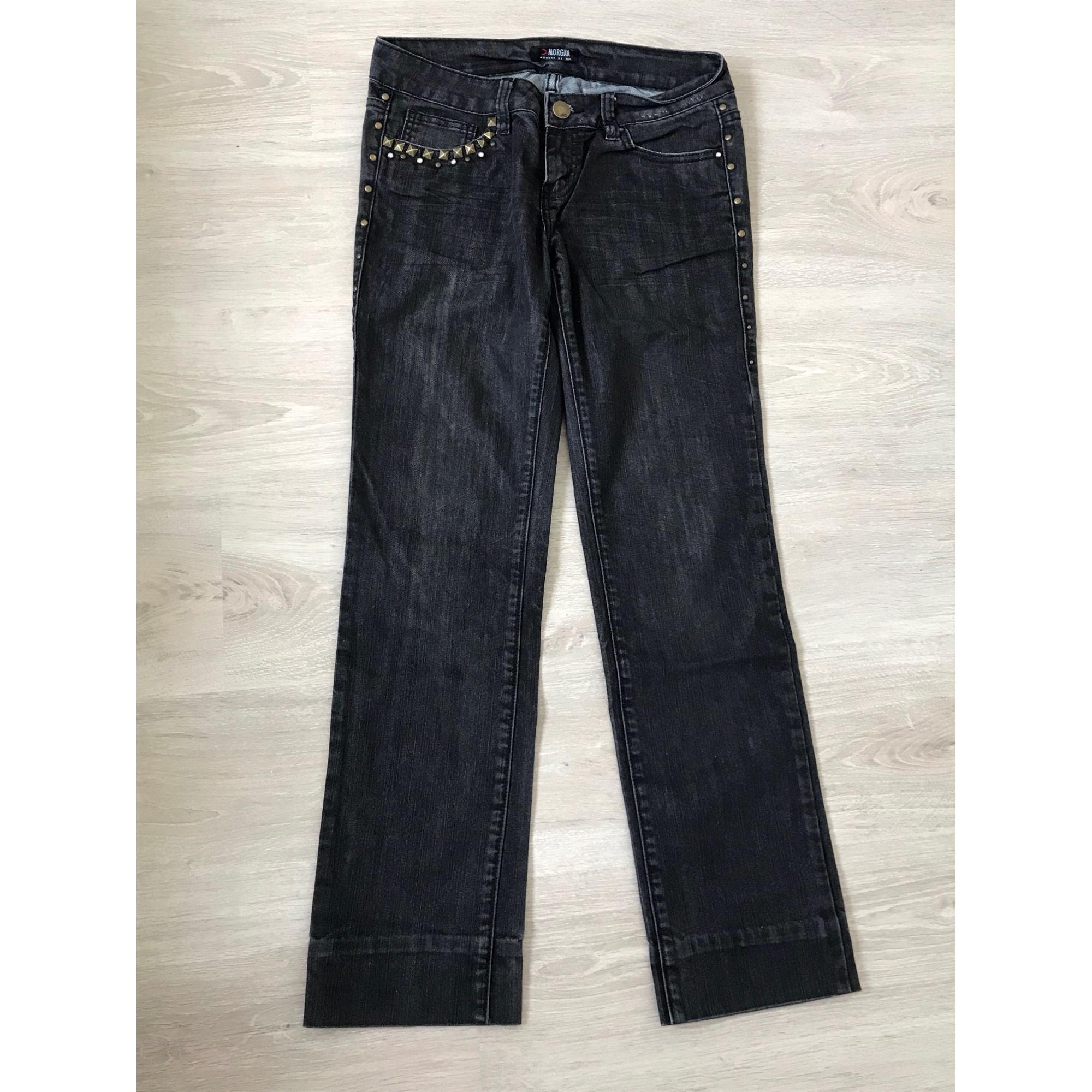 Jeans évasé, boot-cut MORGAN Gris, anthracite