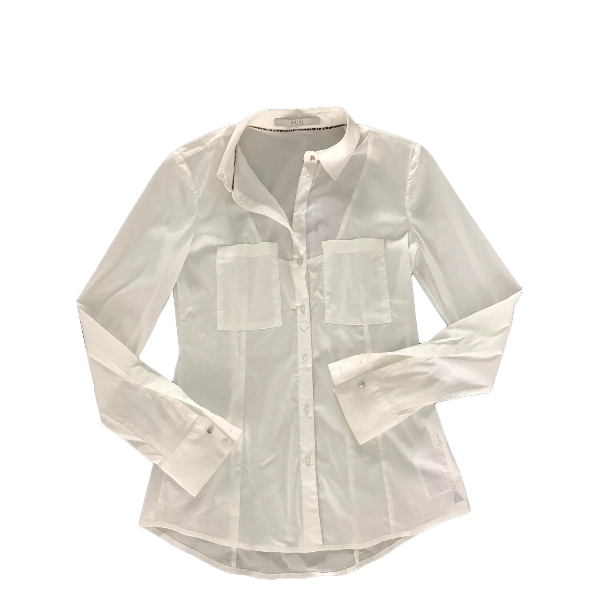 Chemise GUESS Blanc, blanc cassé, écru