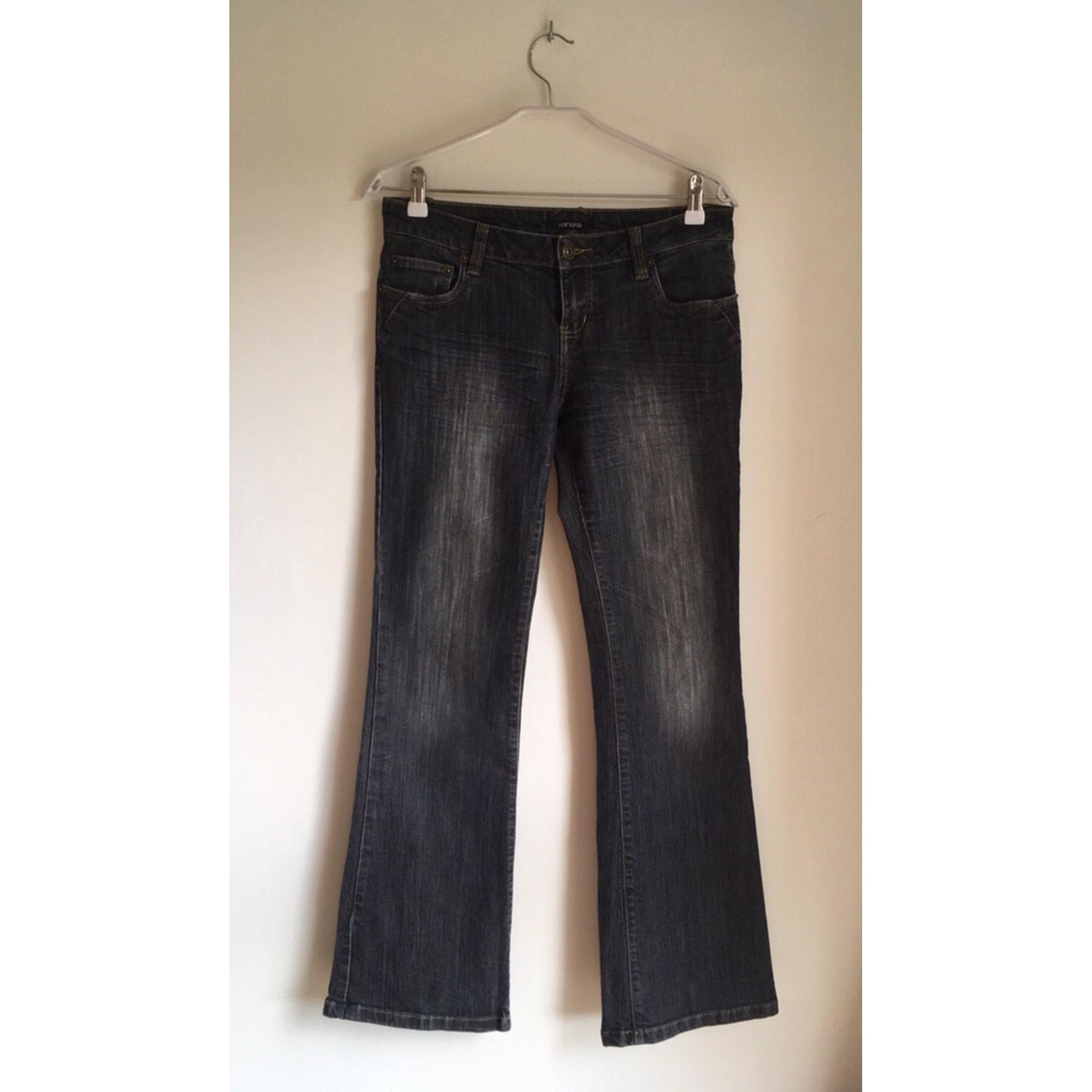 Jeans évasé, boot-cut XANAKA Gris, anthracite