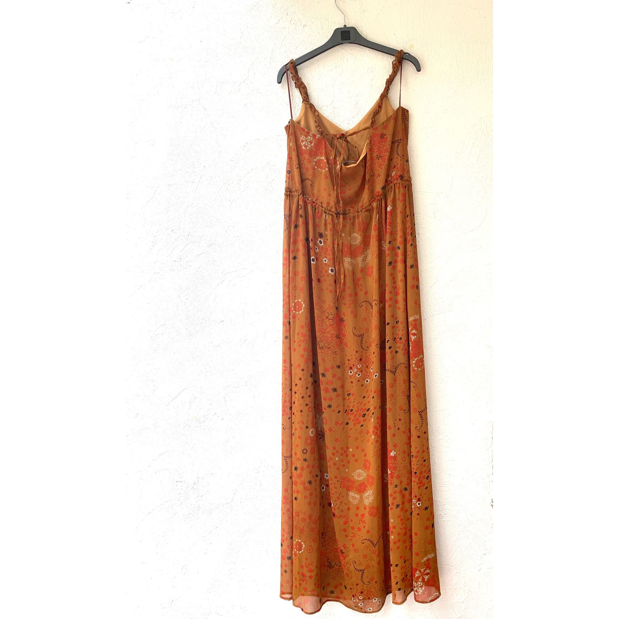 Robe longue ZARA TRAFALLUC Orange