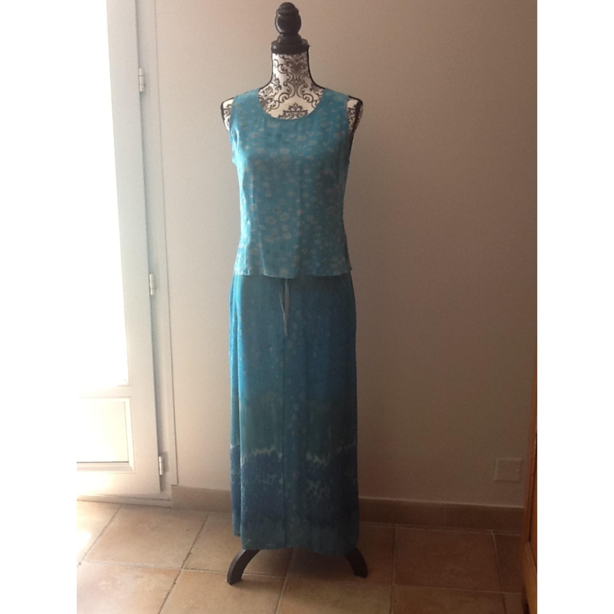Tailleur jupe WEINBERG Bleu, bleu marine, bleu turquoise