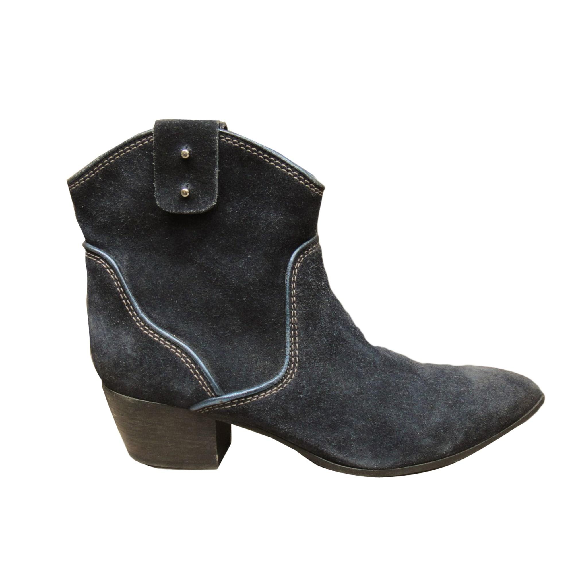 Santiags, bottines, low boots cowboy VIC MATIÉ Bleu, bleu marine, bleu turquoise