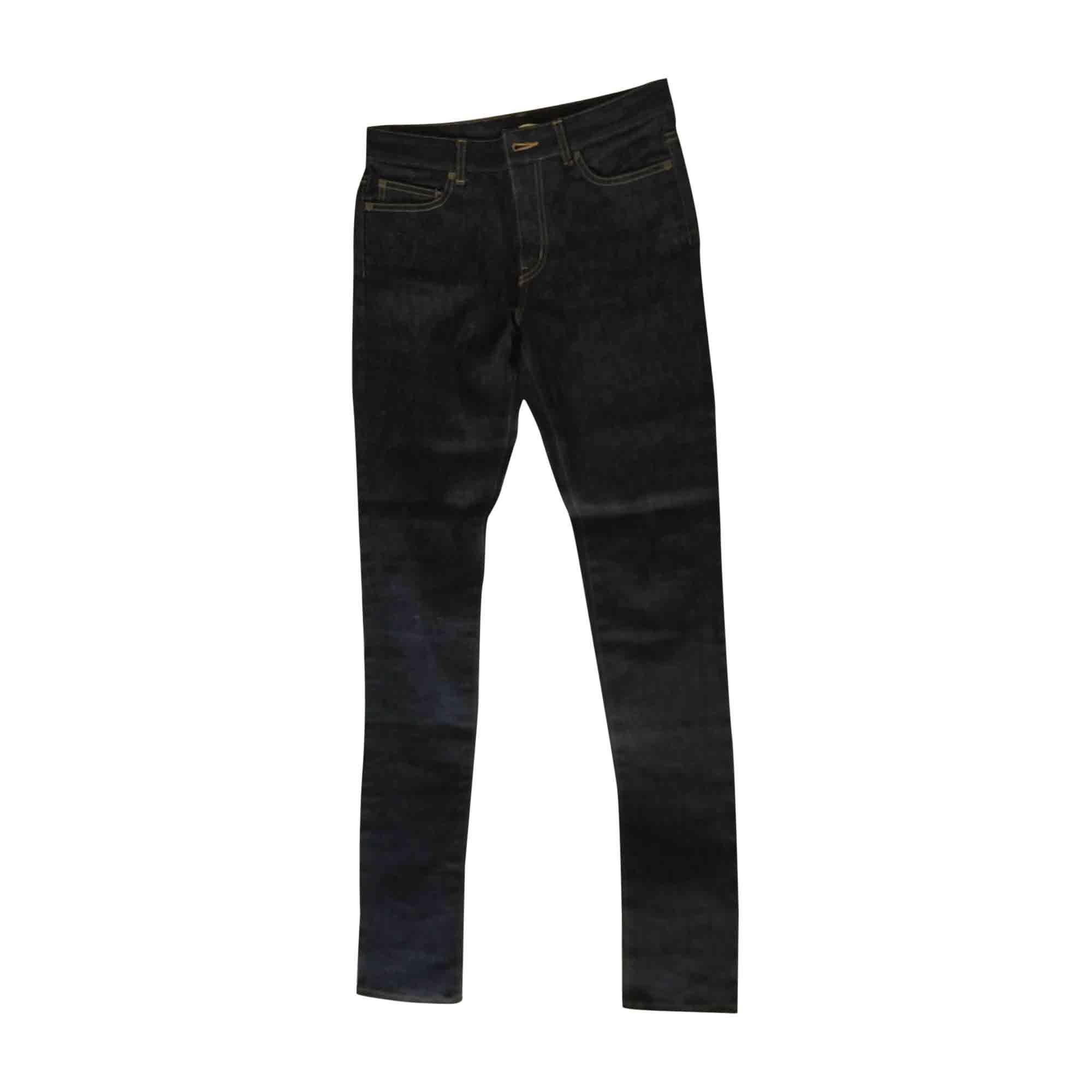 Jeans slim SAINT LAURENT Bleu, bleu marine, bleu turquoise