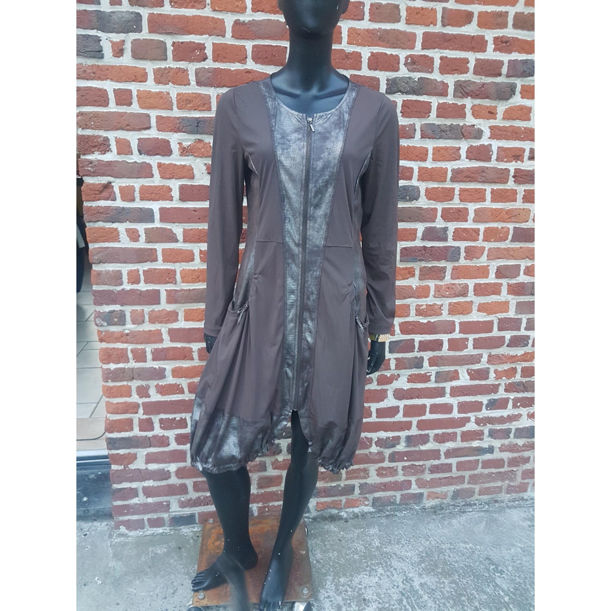 Robe courte ARELINE Marron