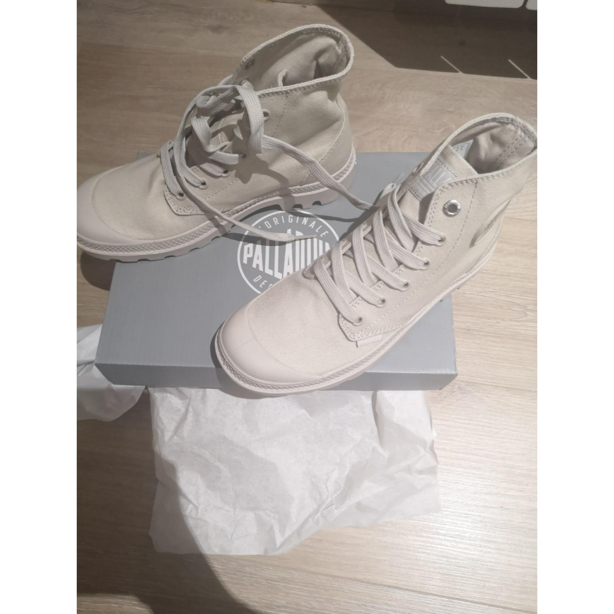 Bottines & low boots plates PALLADIUM Blanc, blanc cassé, écru