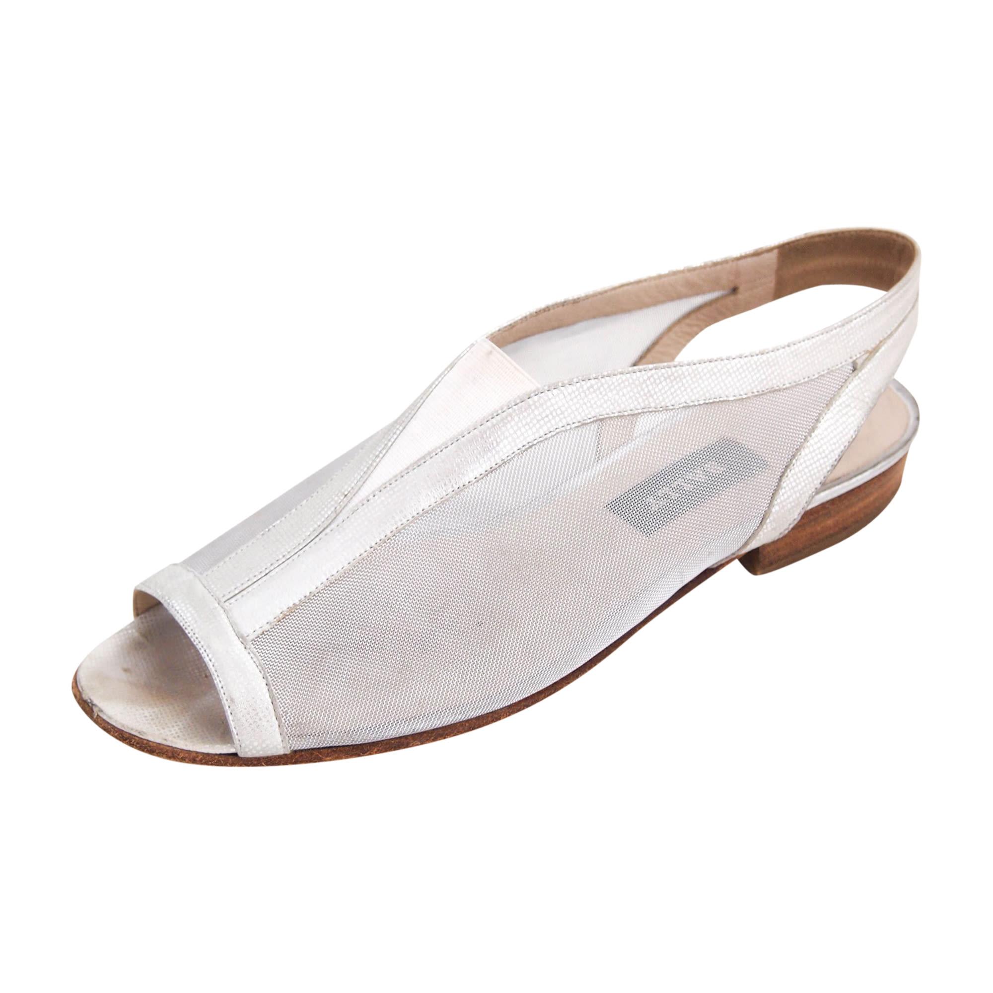 Sandales plates  BALLY Argenté, acier