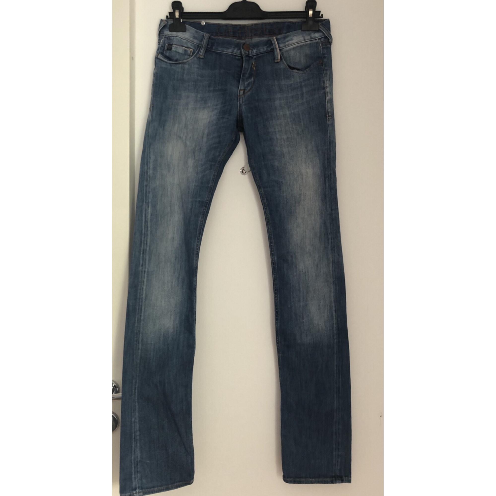 Pantalon droit LE TEMPS DES CERISES Bleu, bleu marine, bleu turquoise