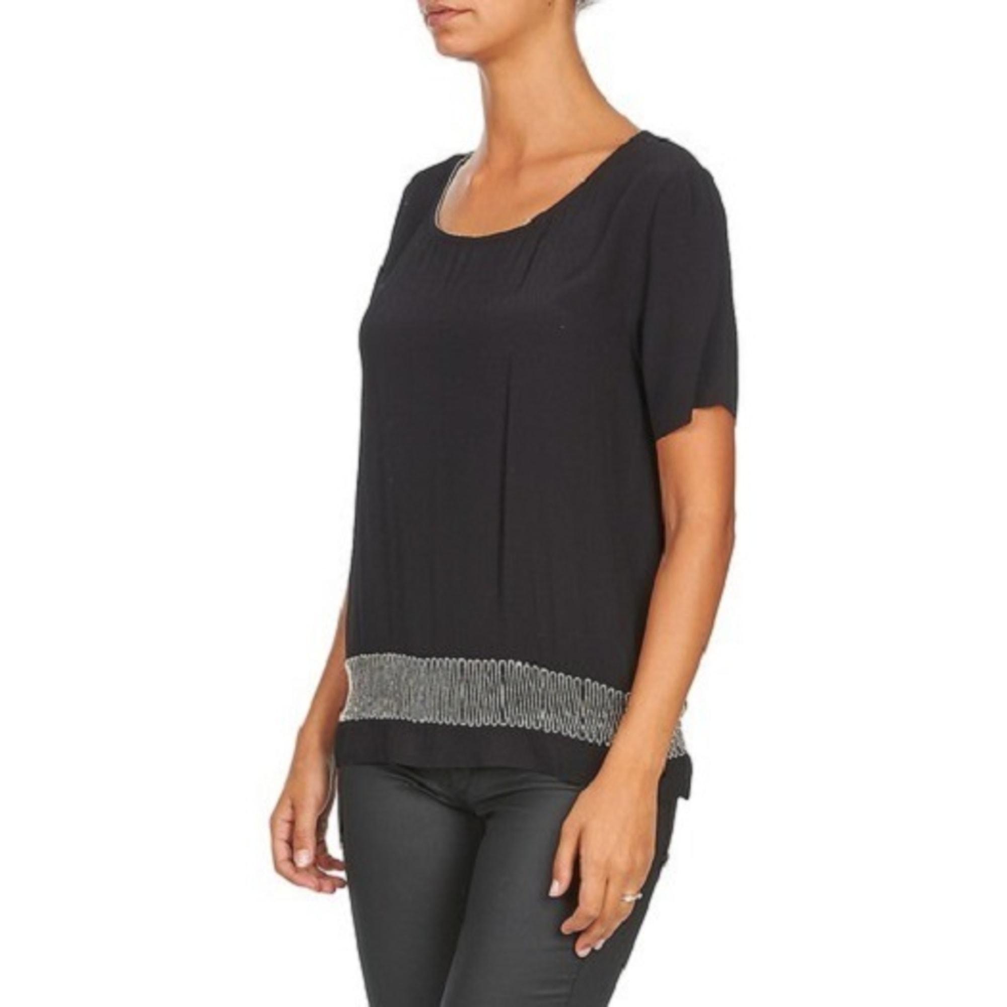 Top, tee-shirt SUNCOO Noir