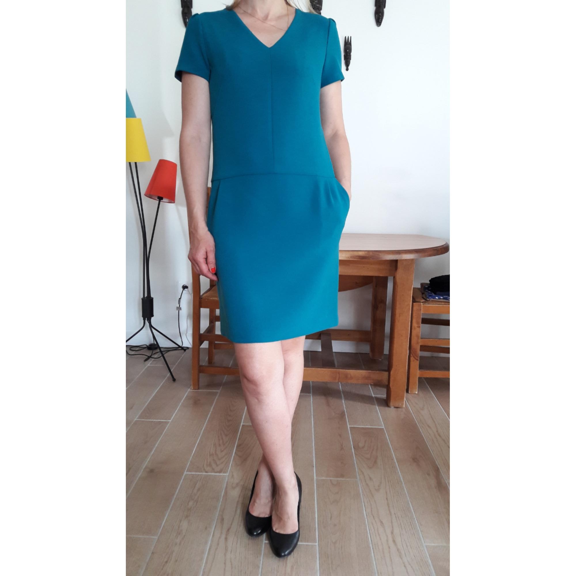 Robe mi-longue 1.2.3 Bleu, bleu marine, bleu turquoise