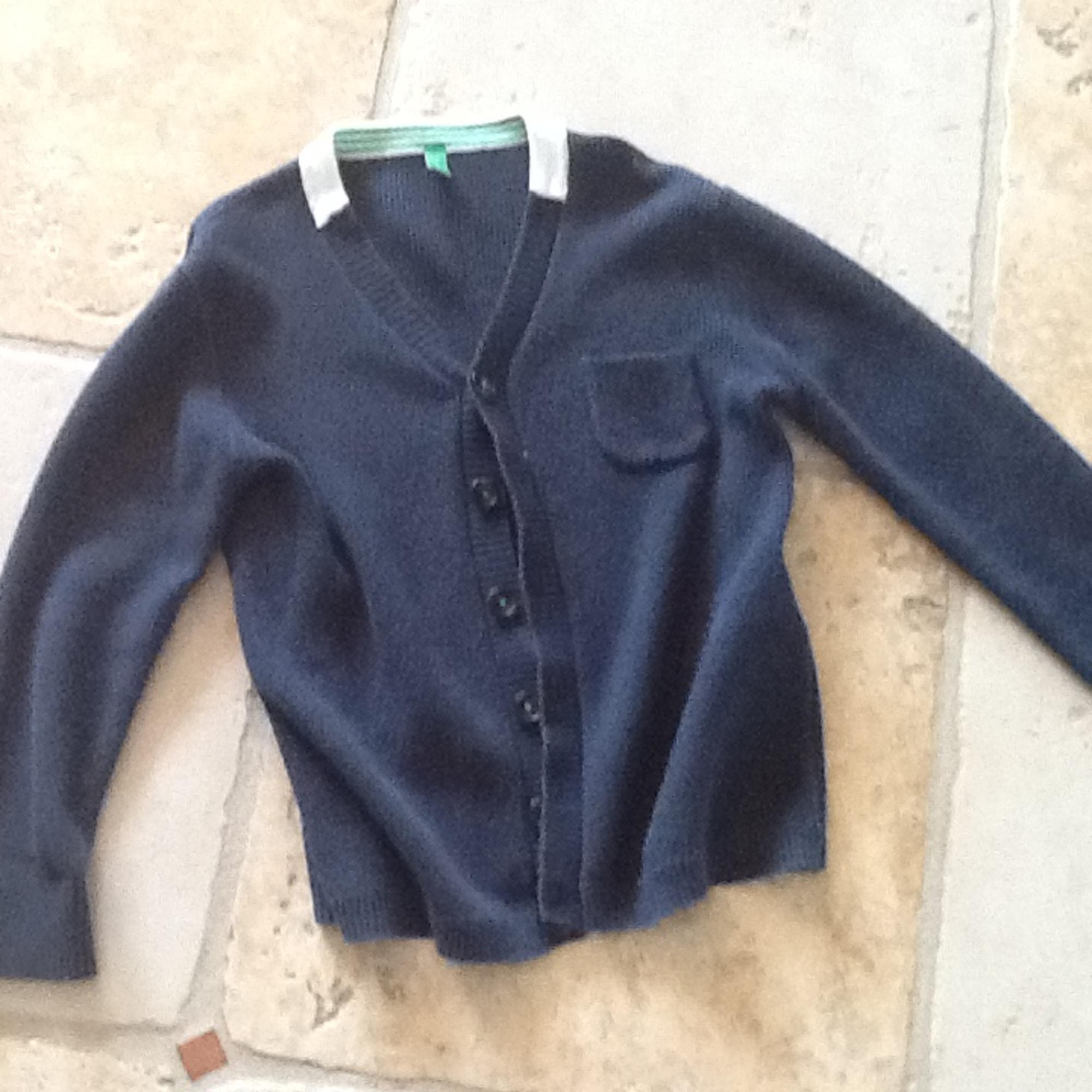 Gilet, cardigan UNITED COLORS OF BENETTON Bleu, bleu marine, bleu turquoise