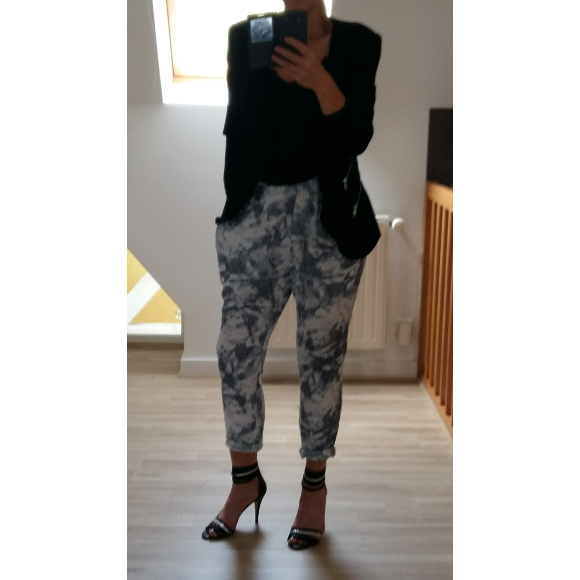 Pantalon large NÜMPH Multicouleur