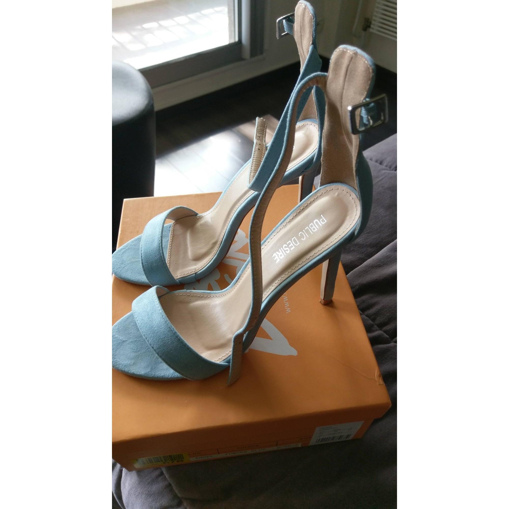Sandales à talons PUBLIC DESIRE Bleu, bleu marine, bleu turquoise