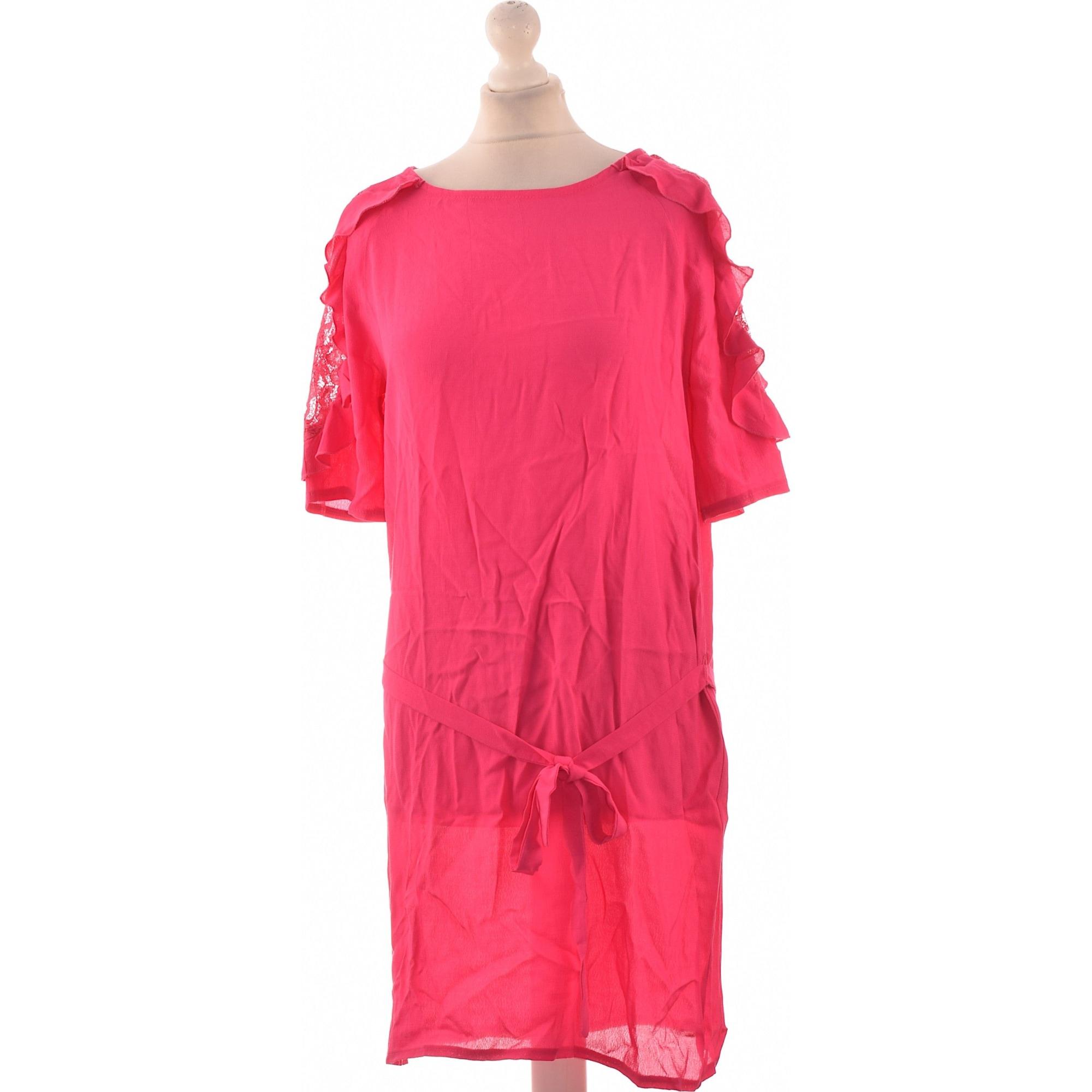 Robe courte PROMOD Rose, fuschia, vieux rose