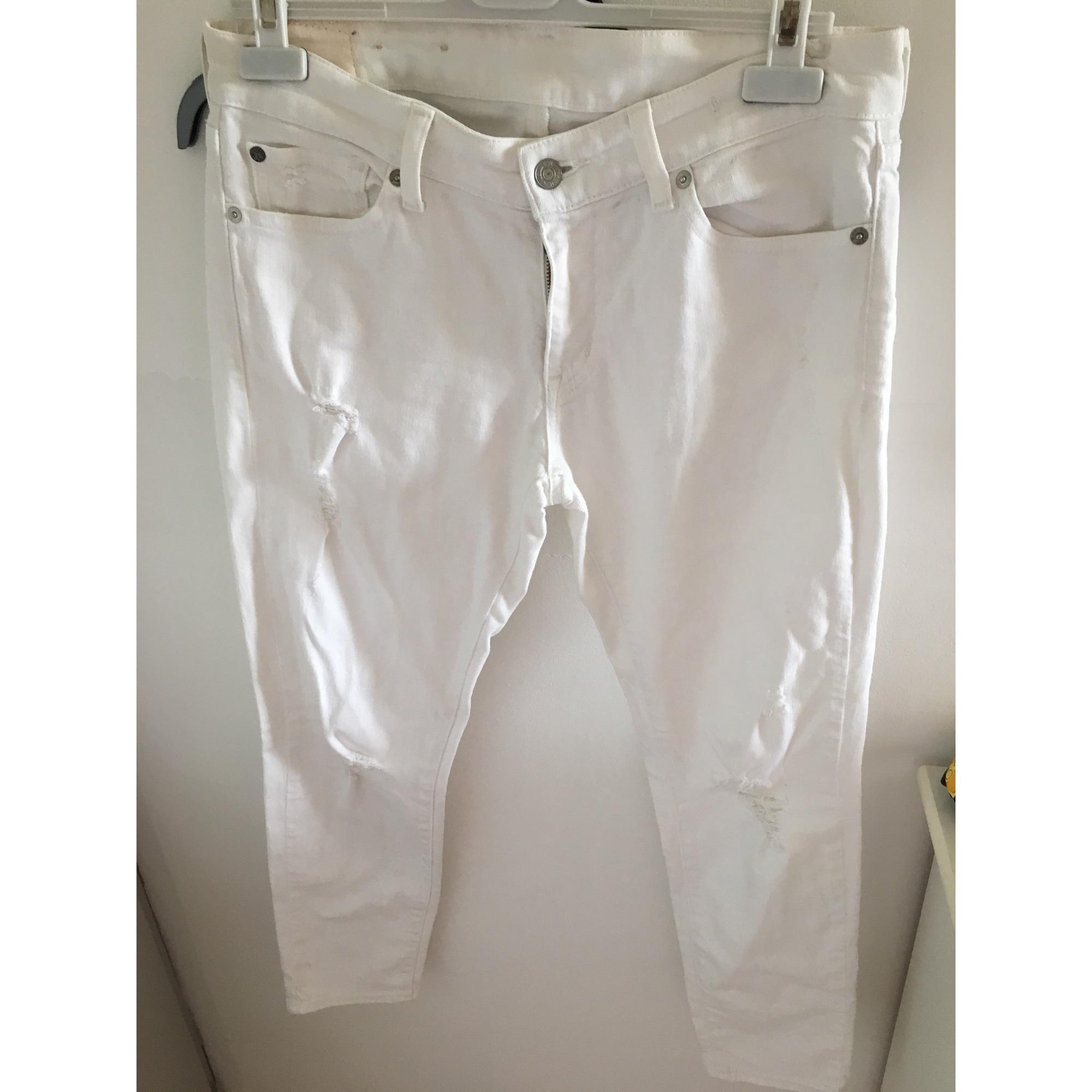 Jeans slim RALPH LAUREN Blanc, blanc cassé, écru
