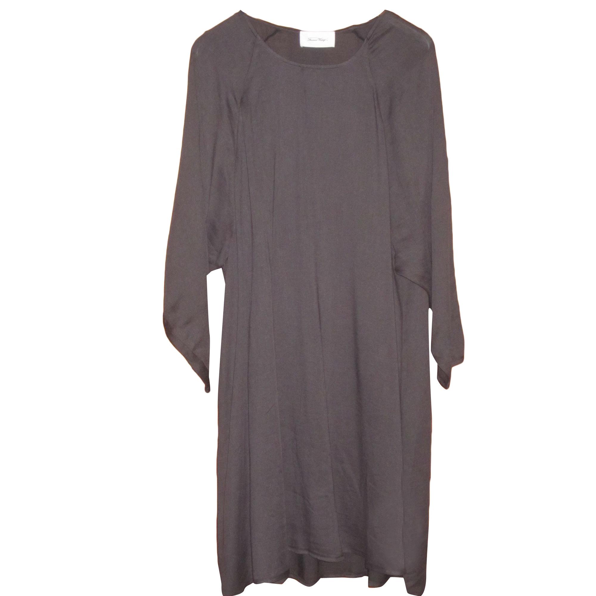 Robe mi-longue AMERICAN VINTAGE Gris, anthracite