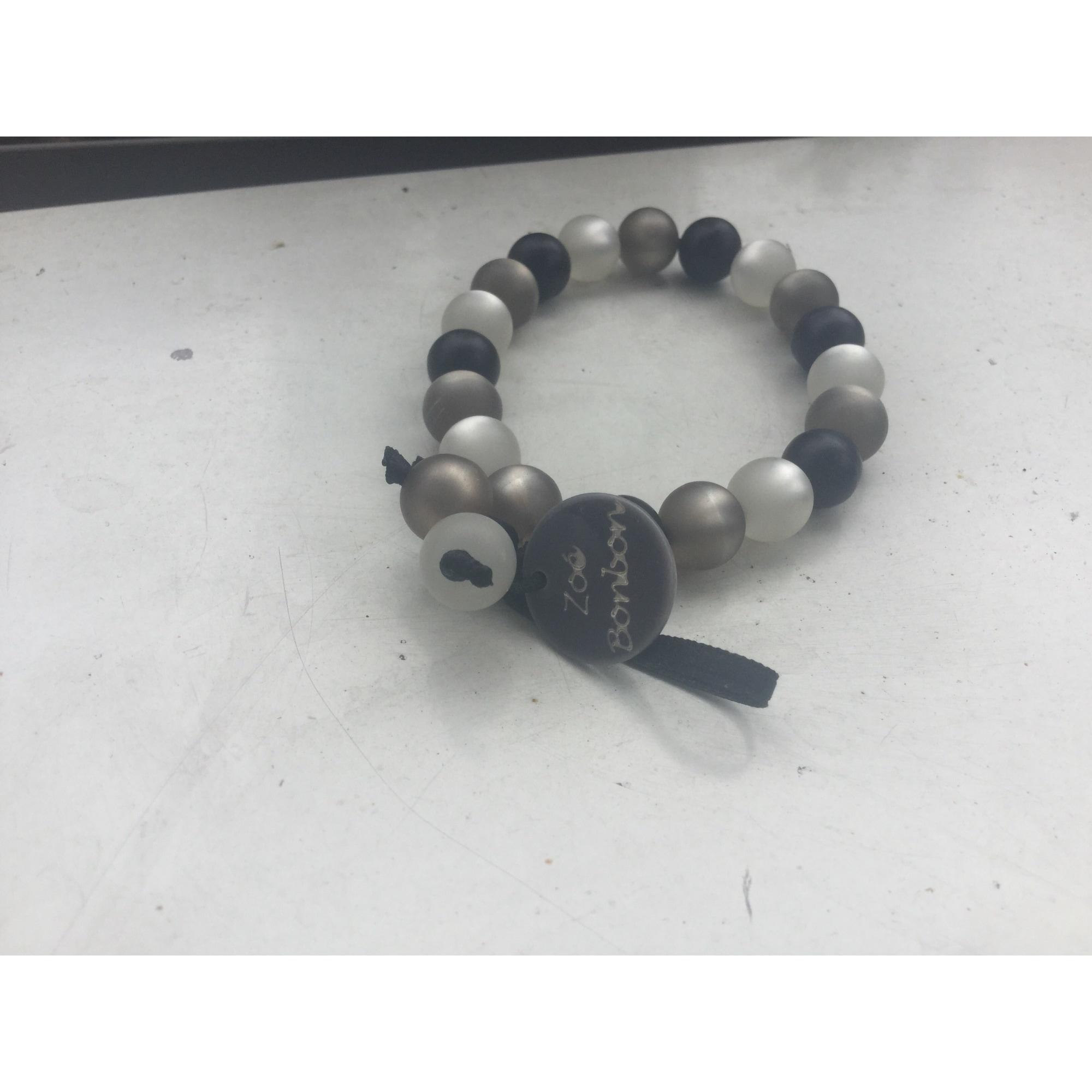 Bracelet ZOÉ BONBON Gris, anthracite