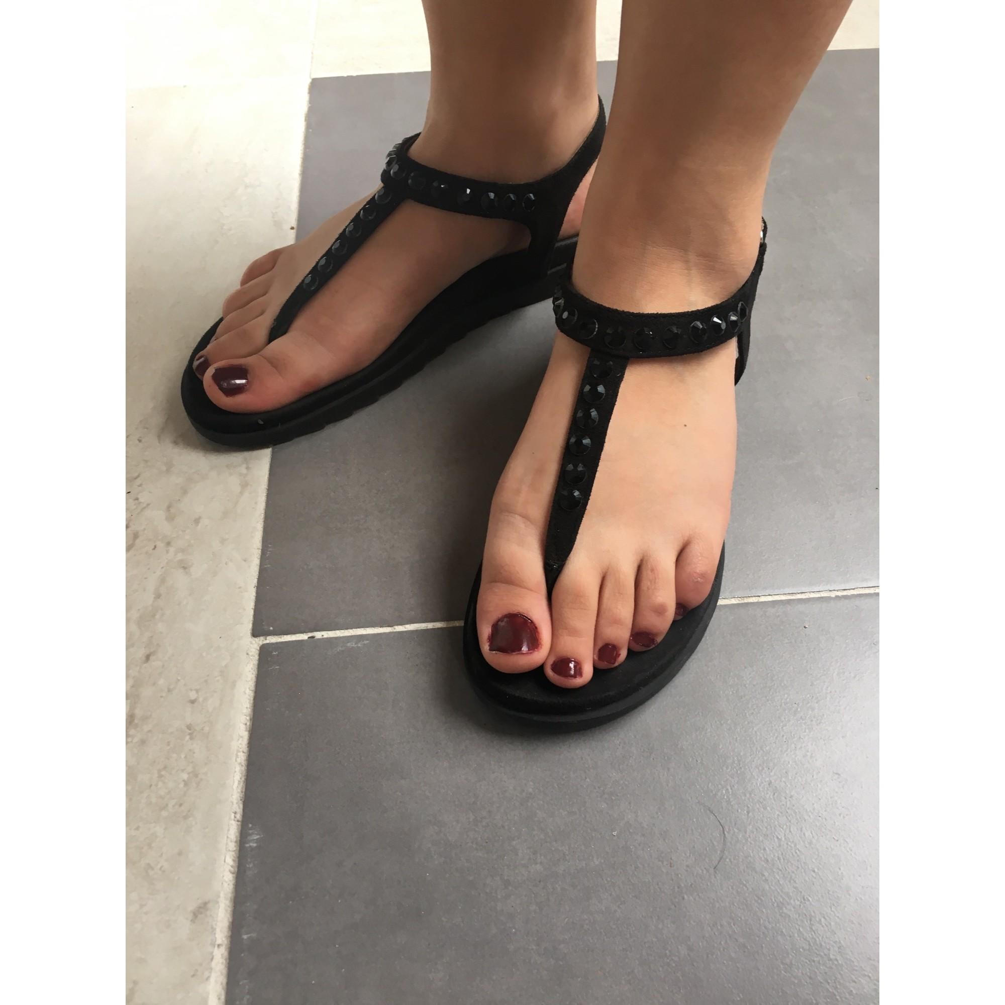 Sandales compensées CAFE NOIR Noir