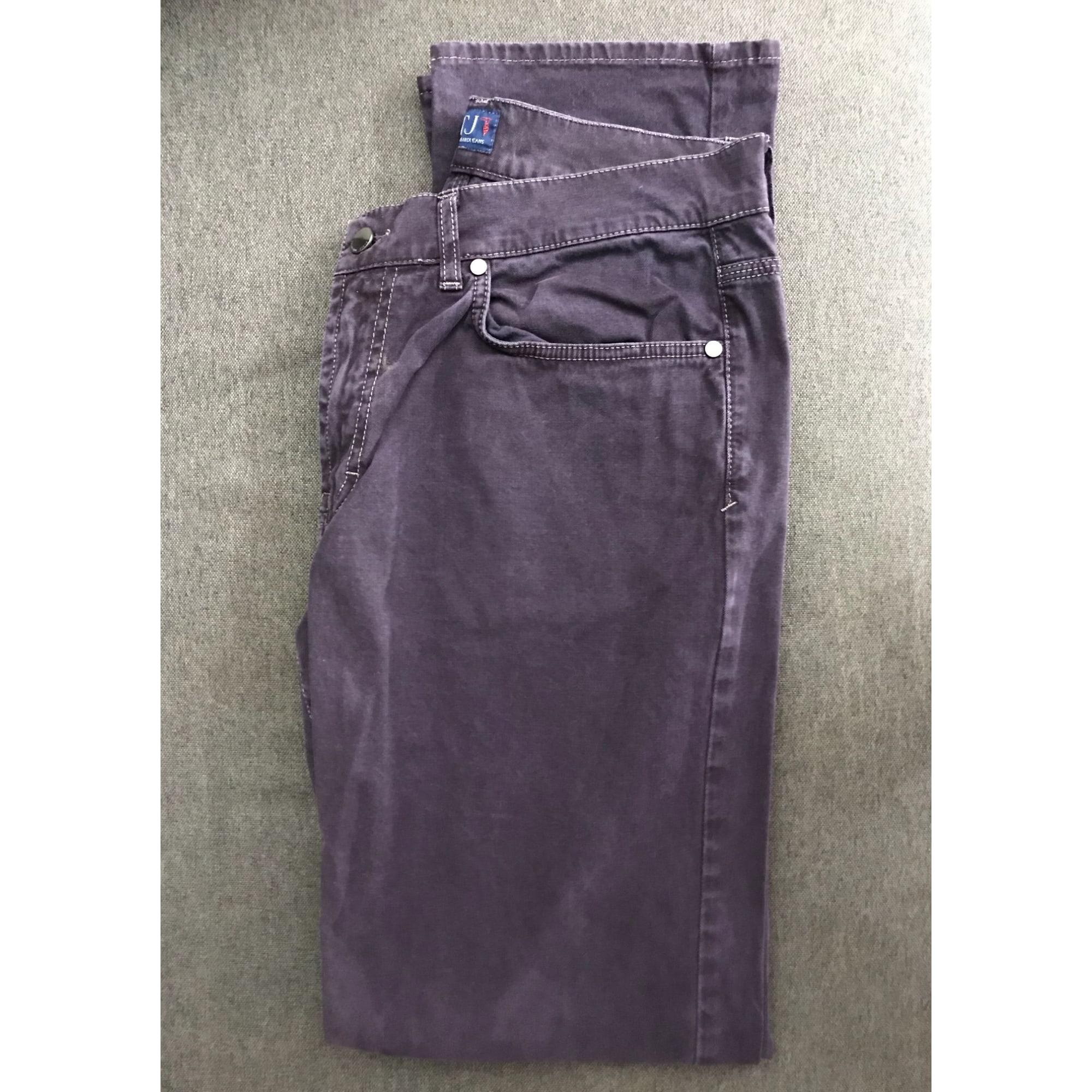 Pantalon droit TRUSSARDI JEANS Violet, mauve, lavande