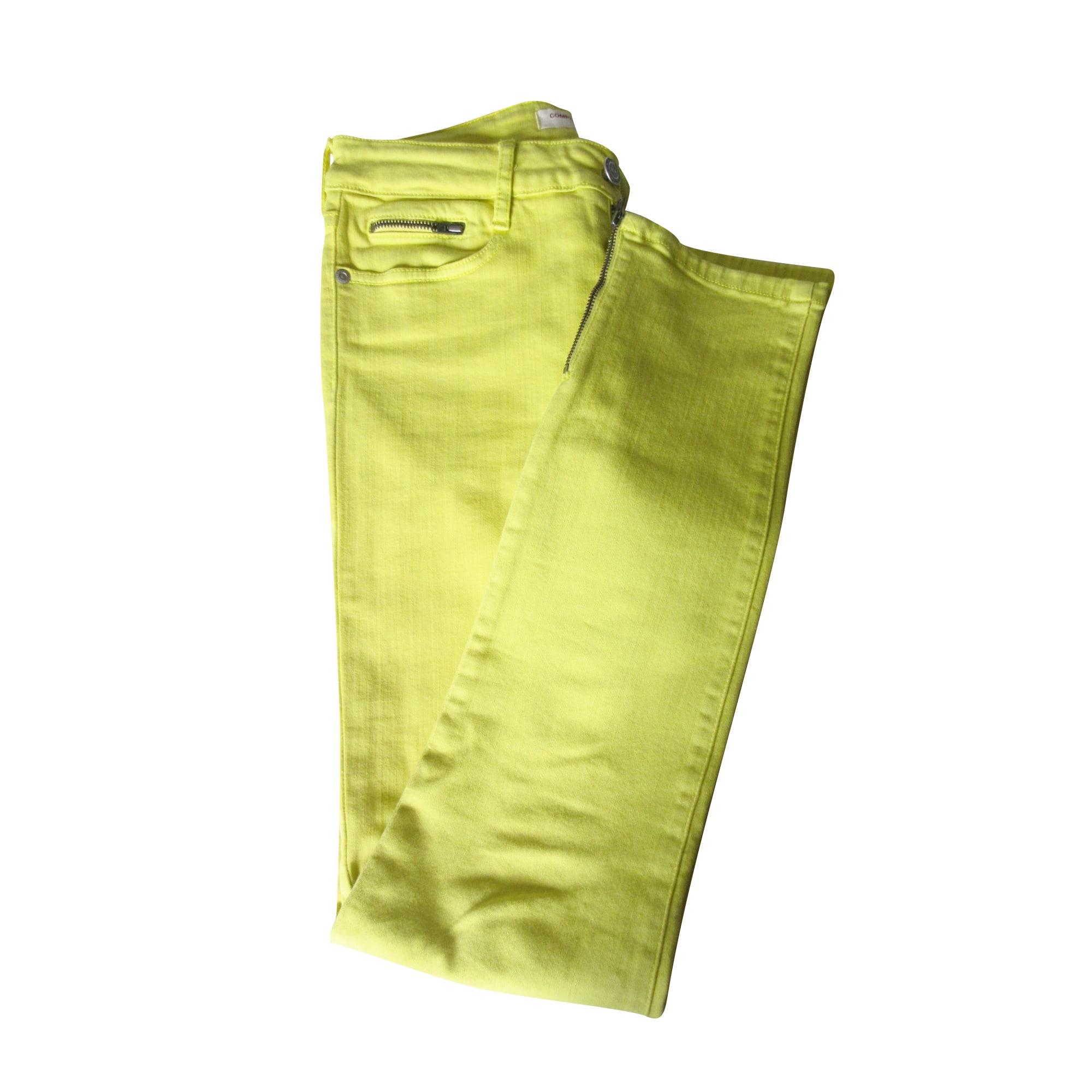 Jeans slim COMPTOIR DES COTONNIERS Jaune