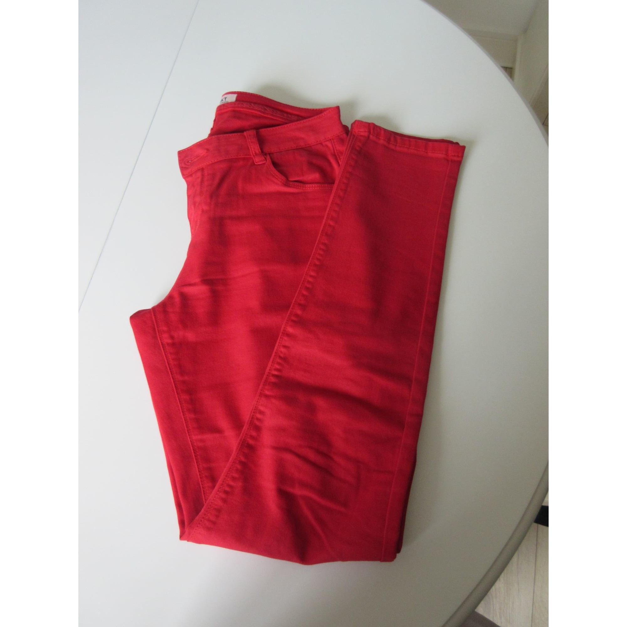 Jeans slim MKT Rouge, bordeaux