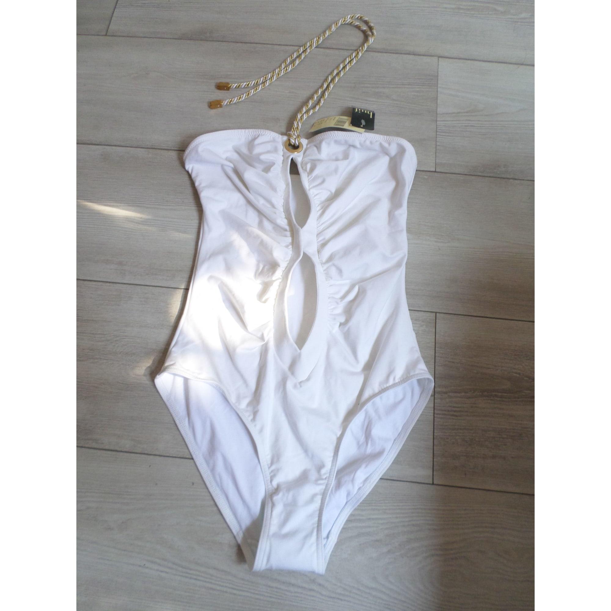 Maillot de bain une-pièce HUIT Blanc, blanc cassé, écru