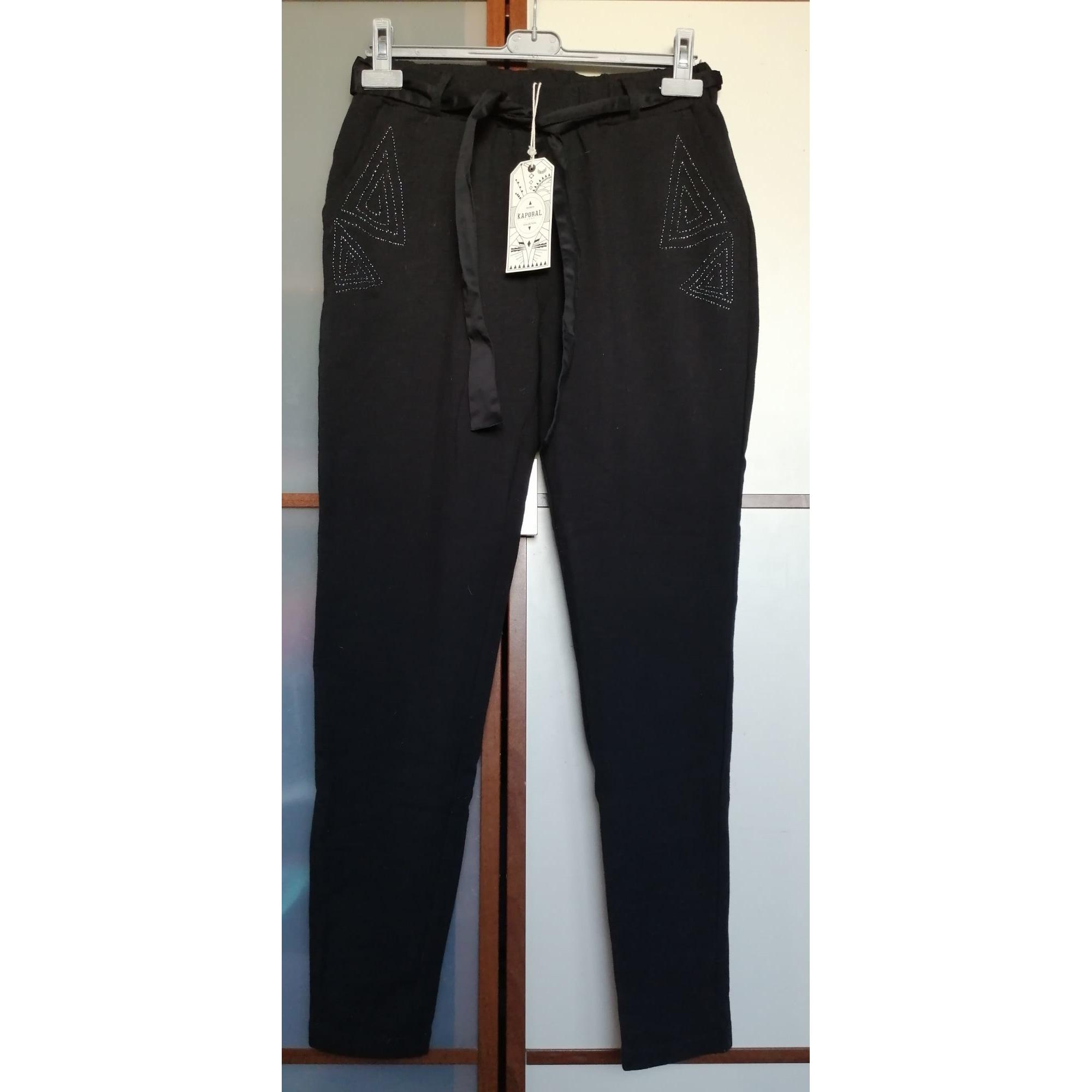 Pantalon carotte KAPORAL Noir