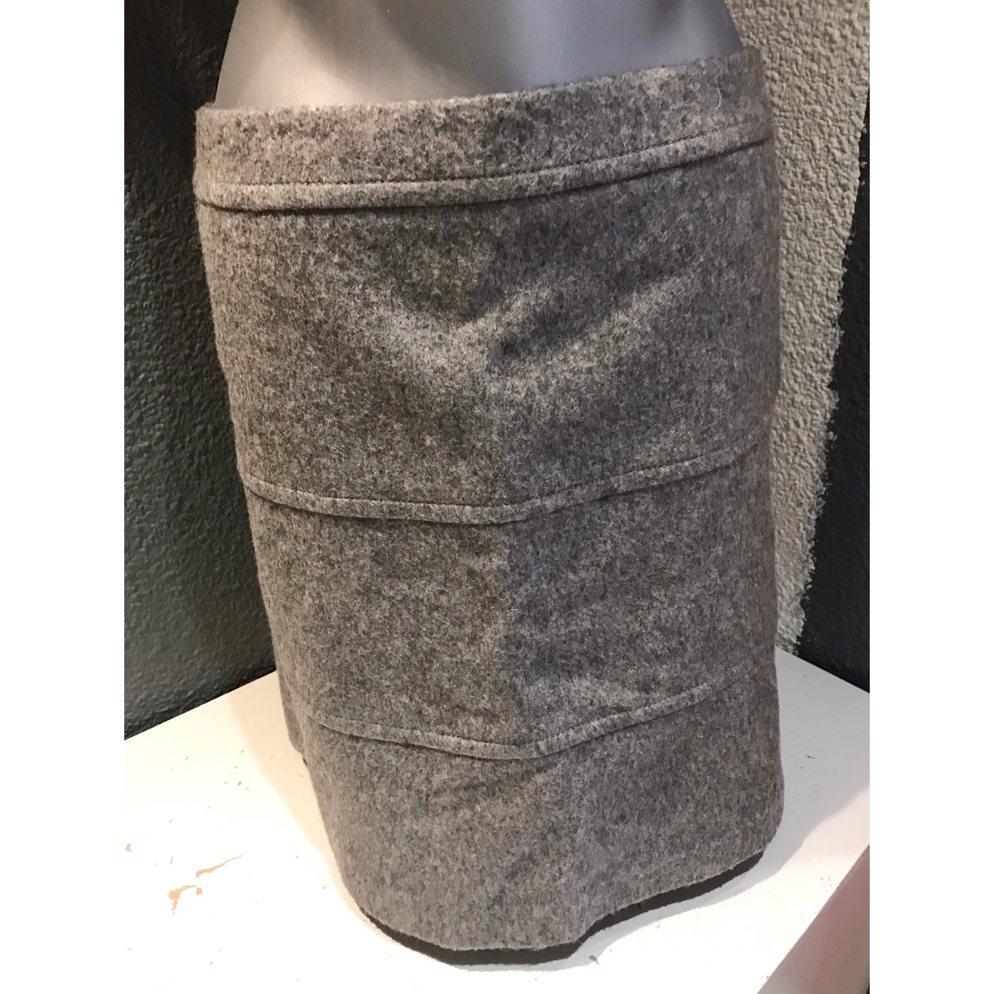 Jupe courte WEEKEND MAX MARA Gris, anthracite