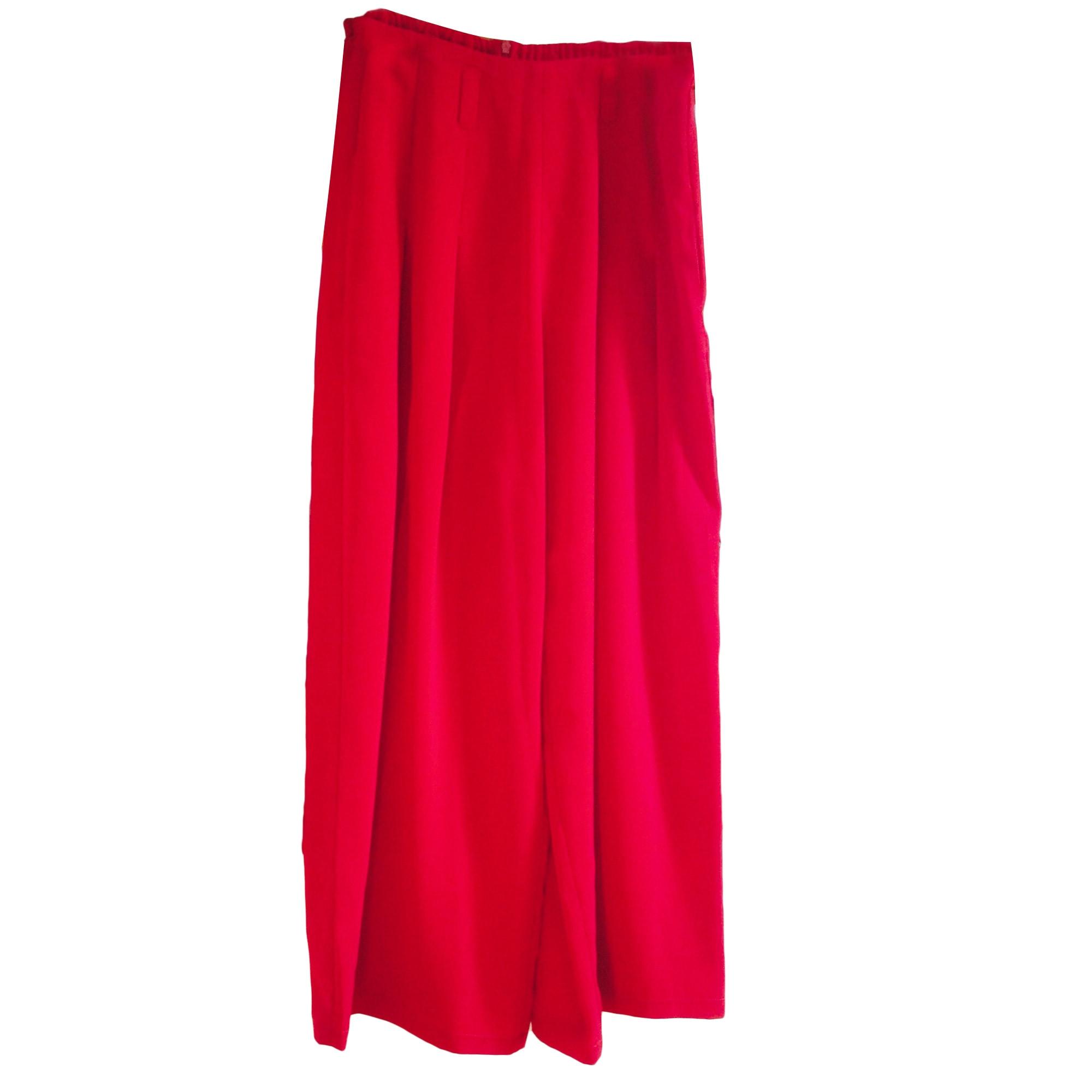 Pantalon large CHACOK Rouge, bordeaux