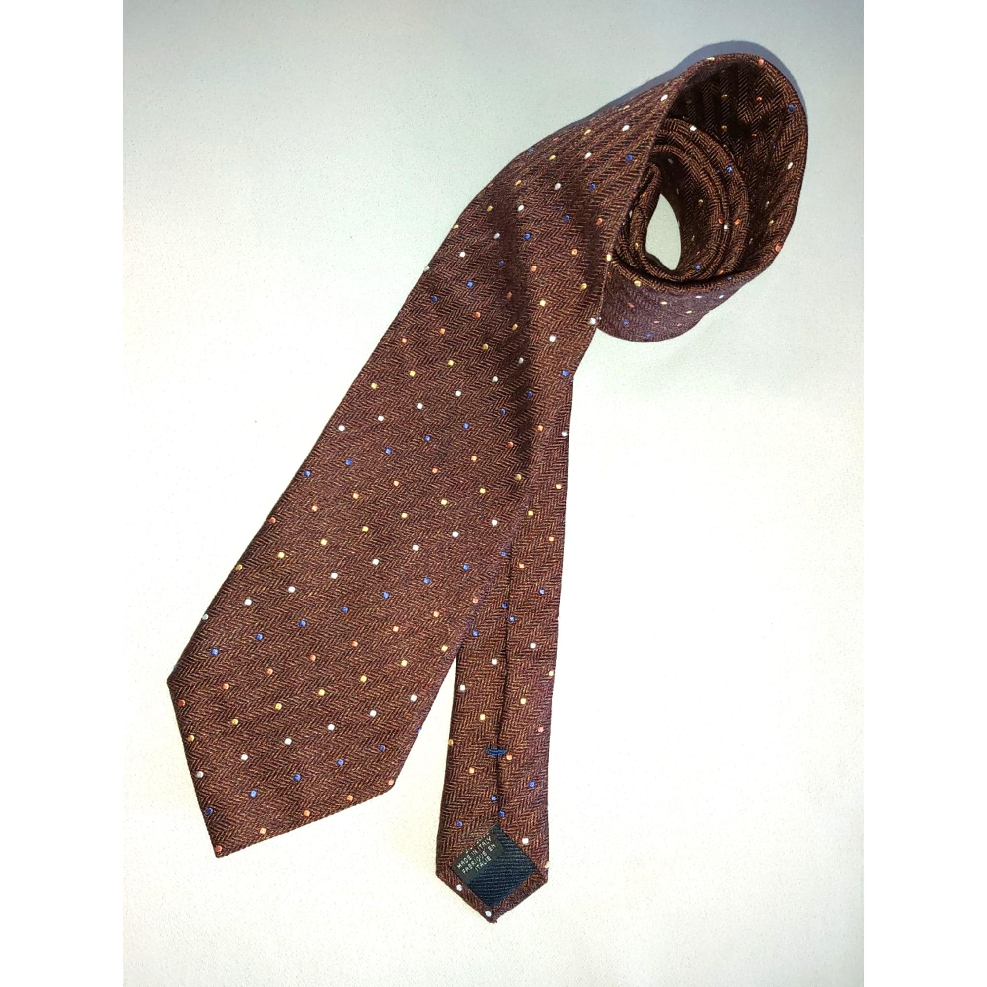 Cravate CANALI ROUILLE
