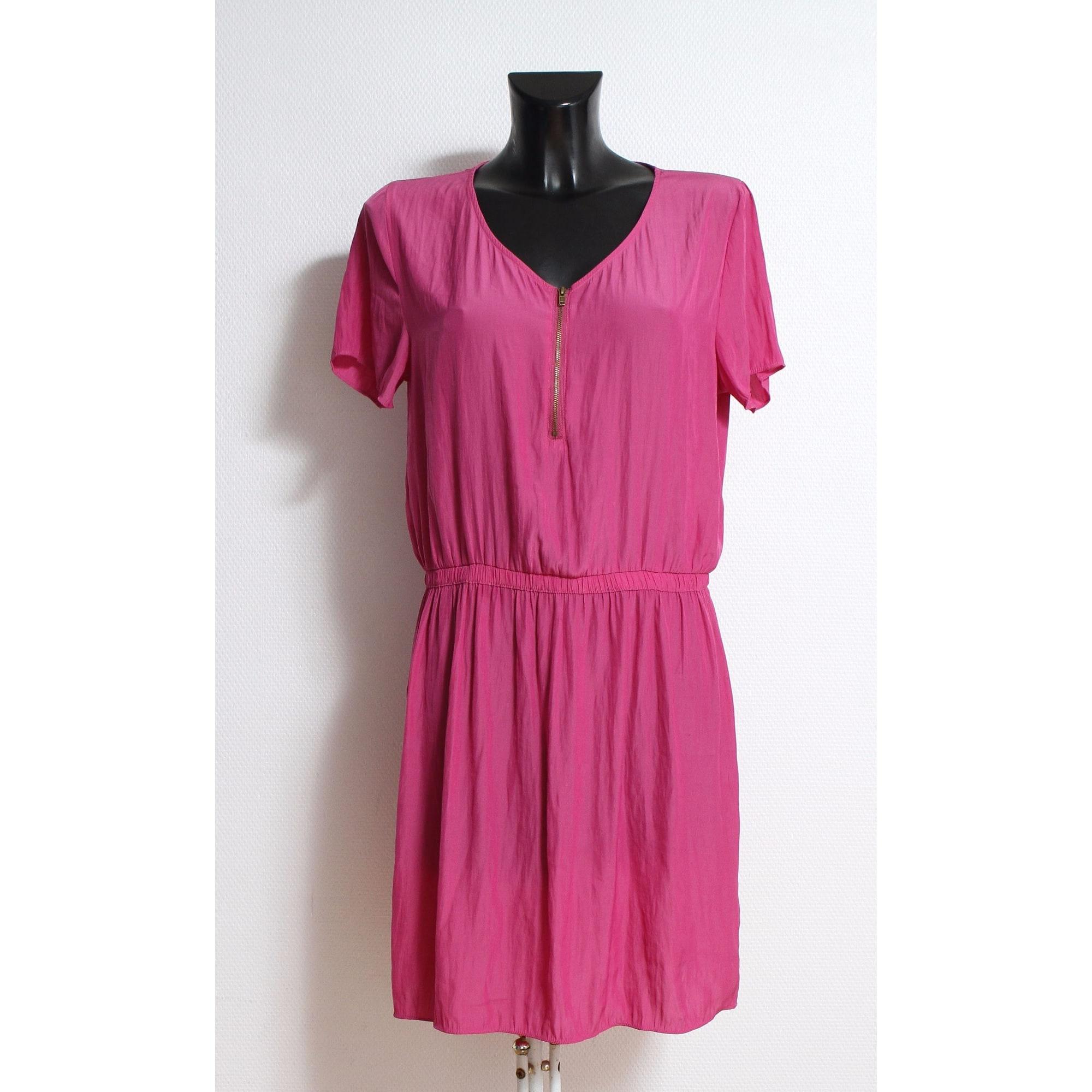 Robe mi-longue AMERICAN VINTAGE Rose, fuschia, vieux rose