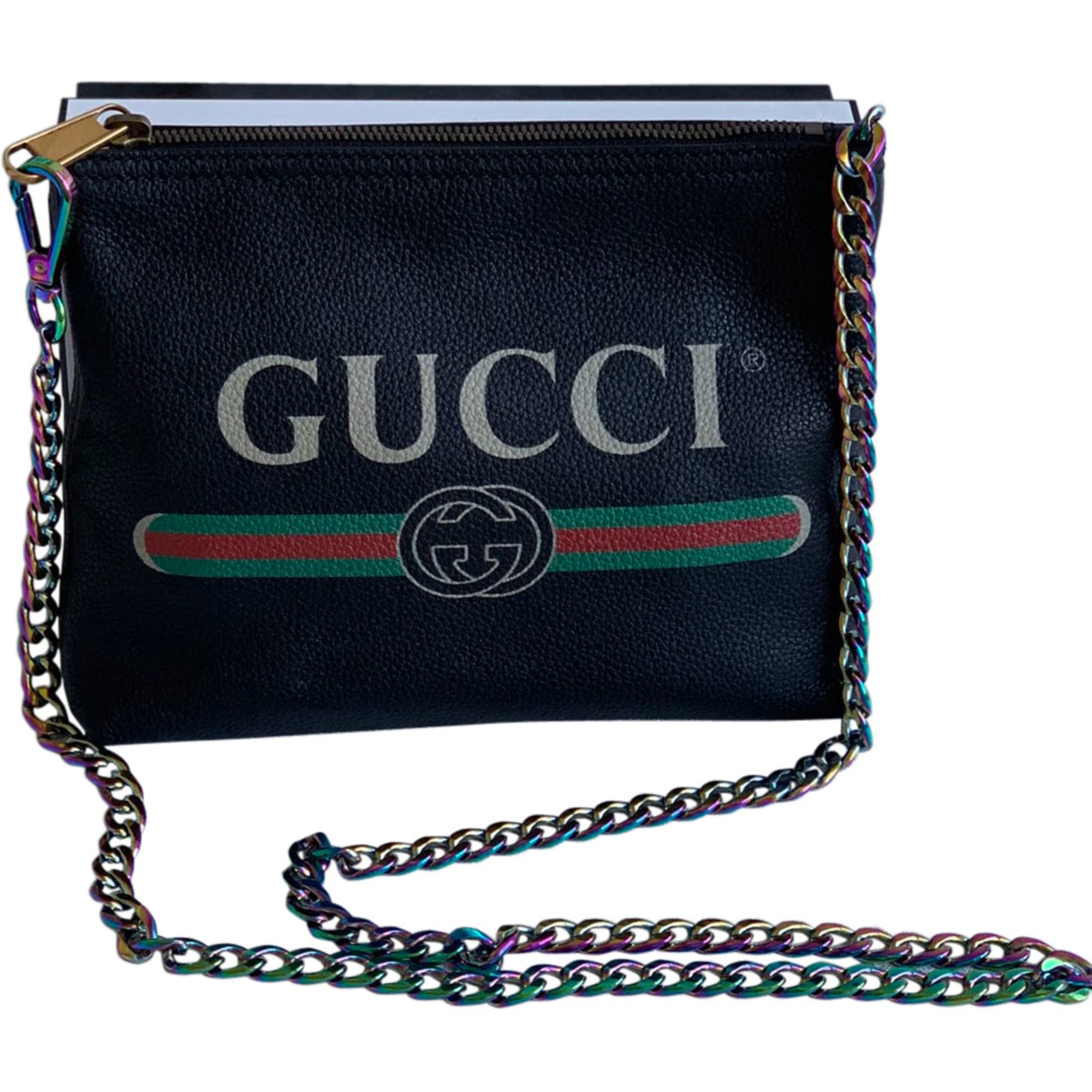 Leather Clutch GUCCI Black