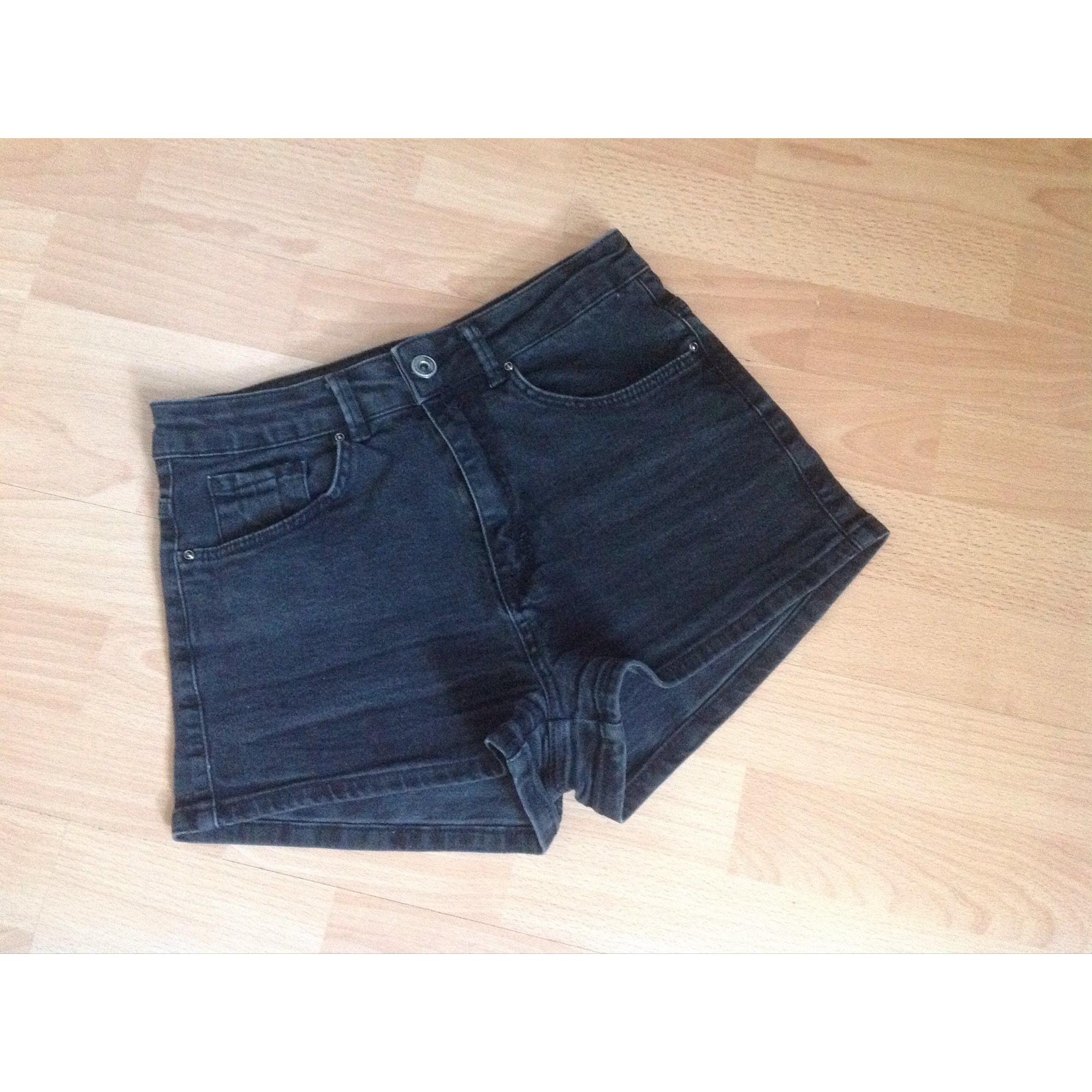 Short en jean PULL & BEAR Noir