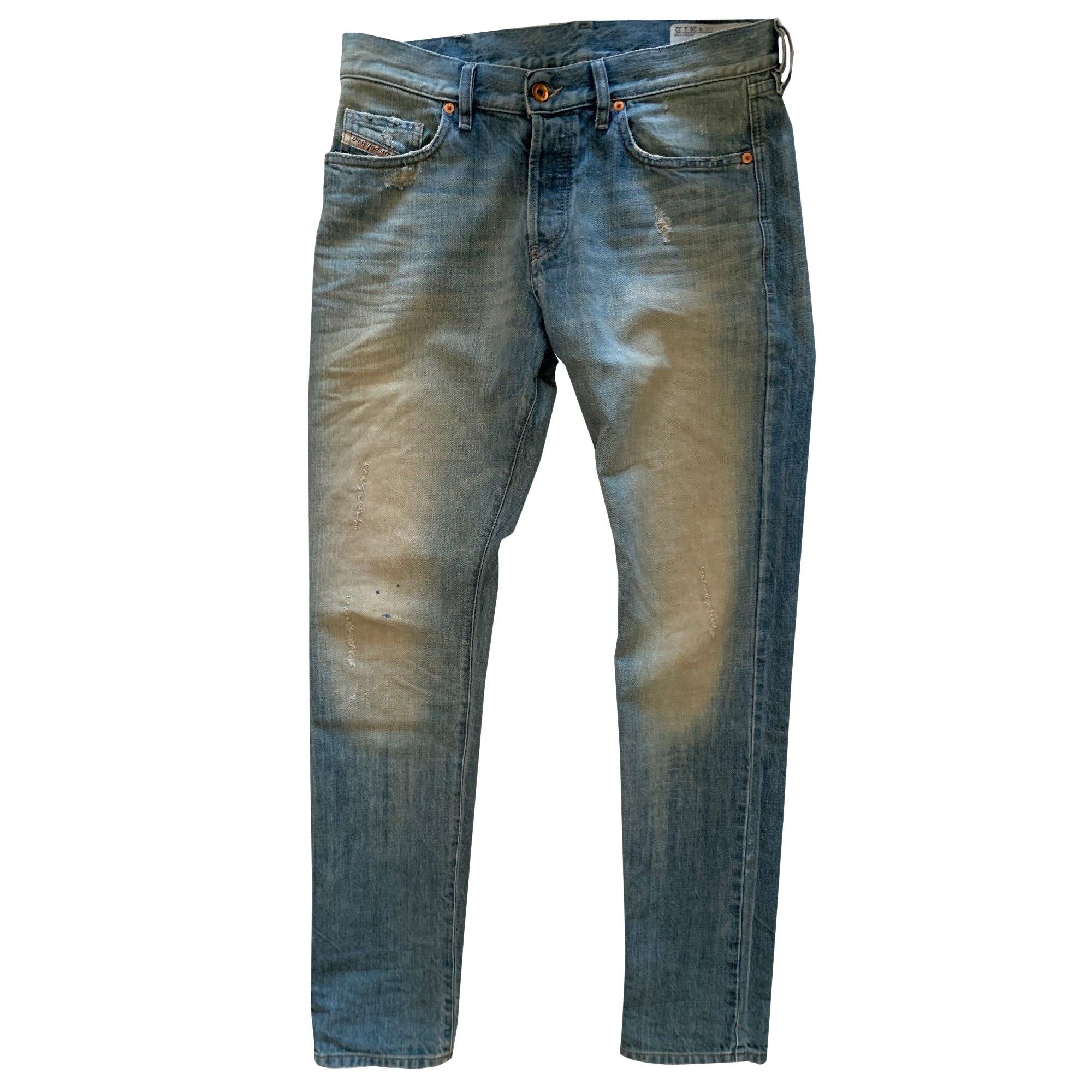 Jeans large, boyfriend DIESEL Bleu, bleu marine, bleu turquoise