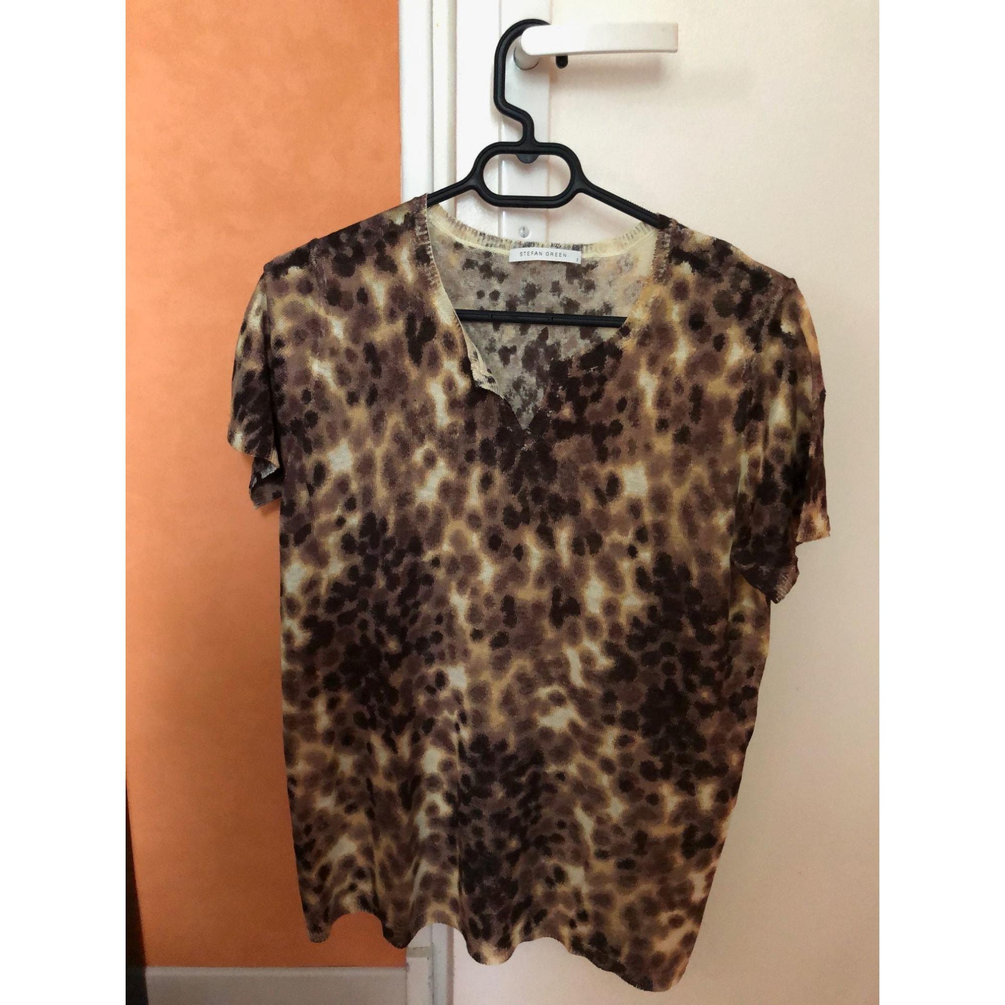 Top, tee-shirt STEFAN GREEN Imprimés animaliers