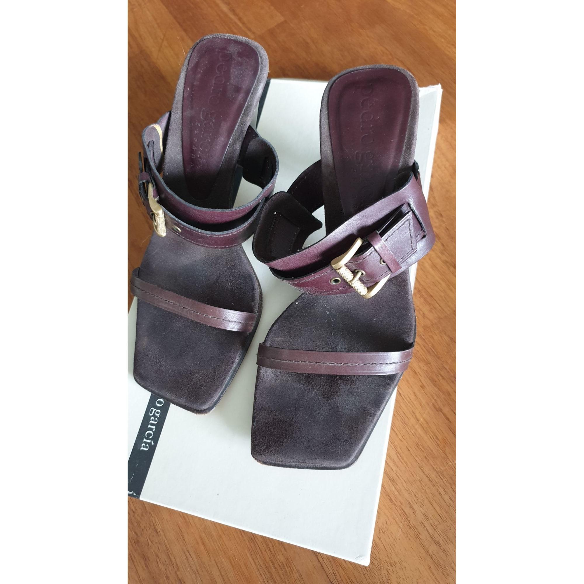 Sandales à talons PEDRO GARCIA Marron