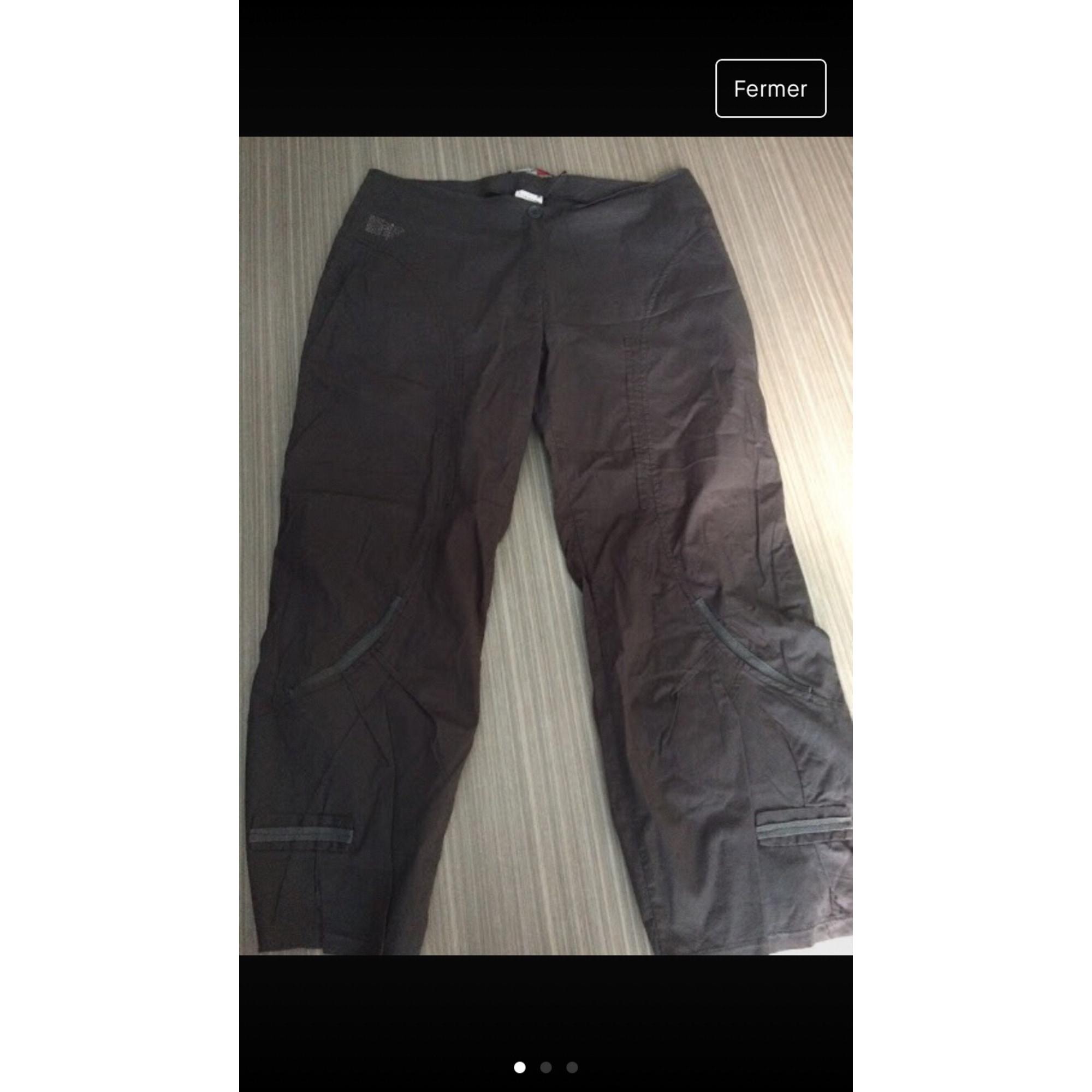 Pantalon droit LA MODE EST À VOUS Kaki